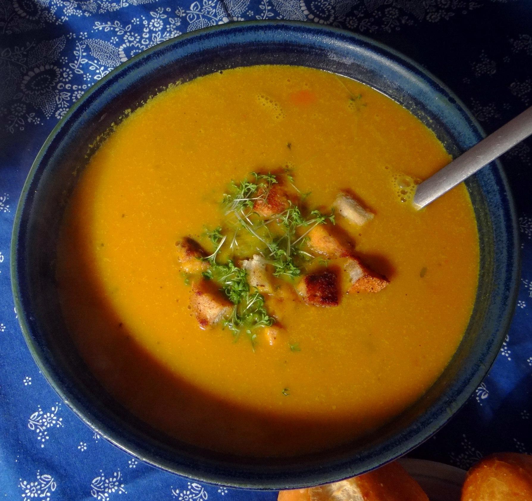 Exotische Süßkartoffelsuppe (2)