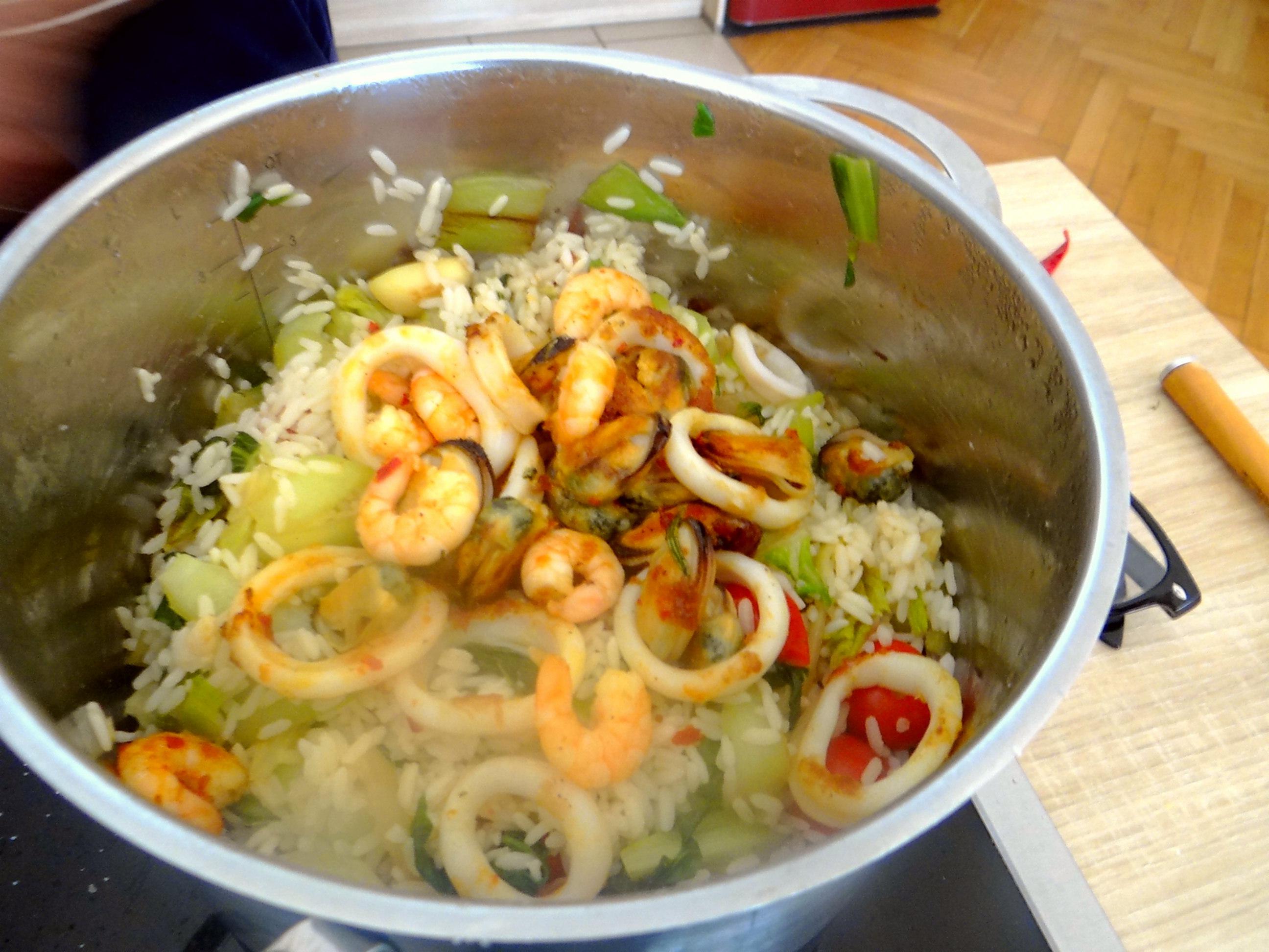 Meeresfrüchte,Pak Choi,Reis (10)