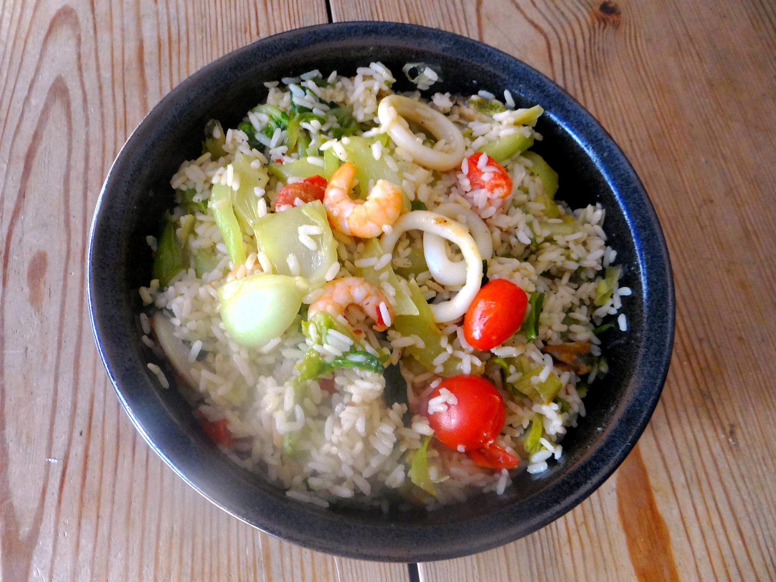 Meeresfrüchte,Pak Choi,Reis (11)