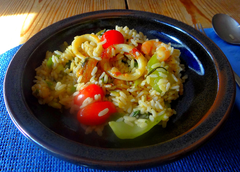 Meeresfrüchte,Pak Choi,Reis (12)