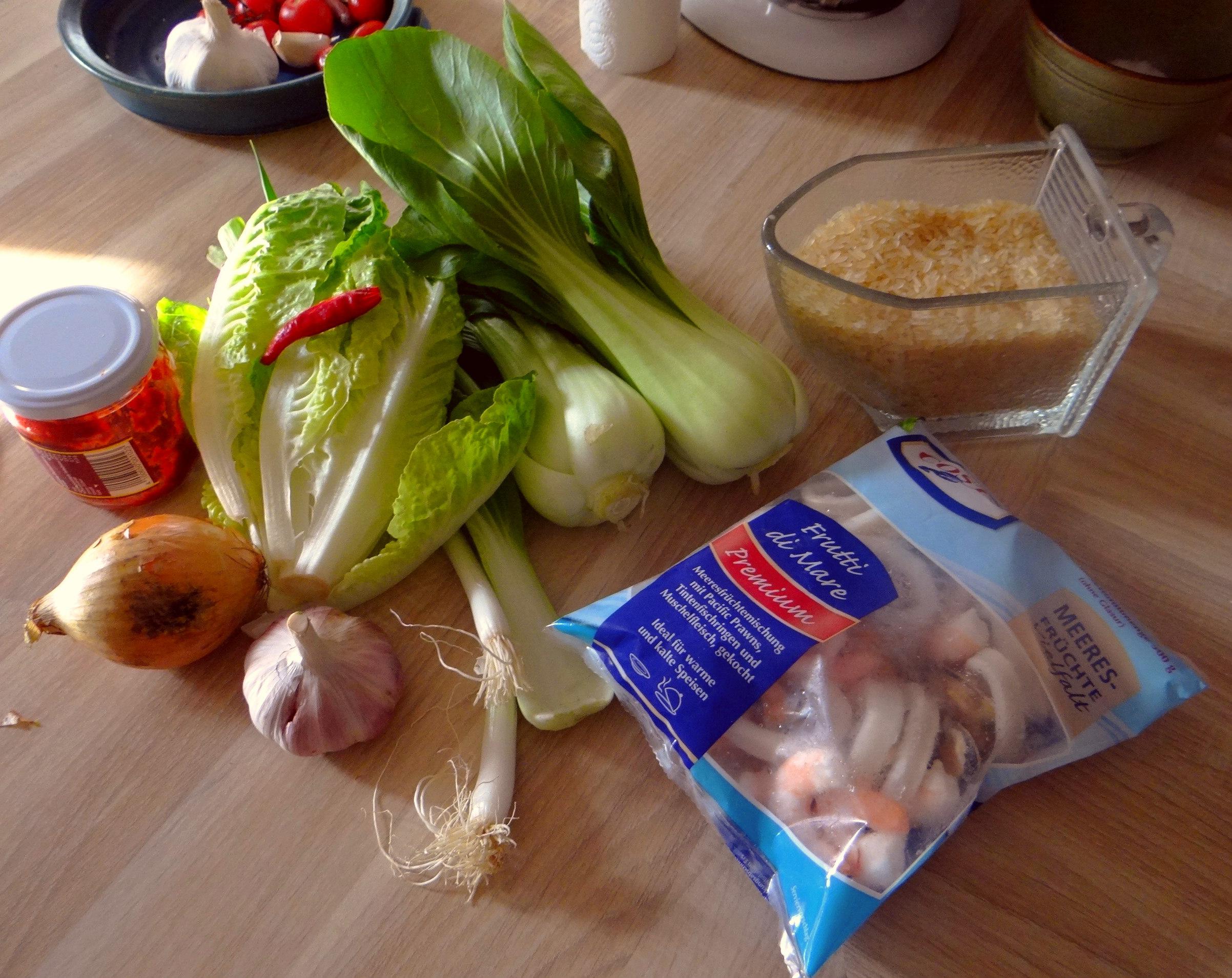 Meeresfrüchte,Pak Choi,Reis (5)
