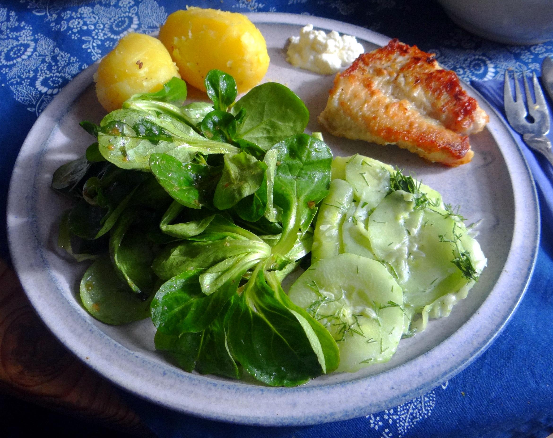 Rotbarsch,Salate,gebackene Quitten (14)