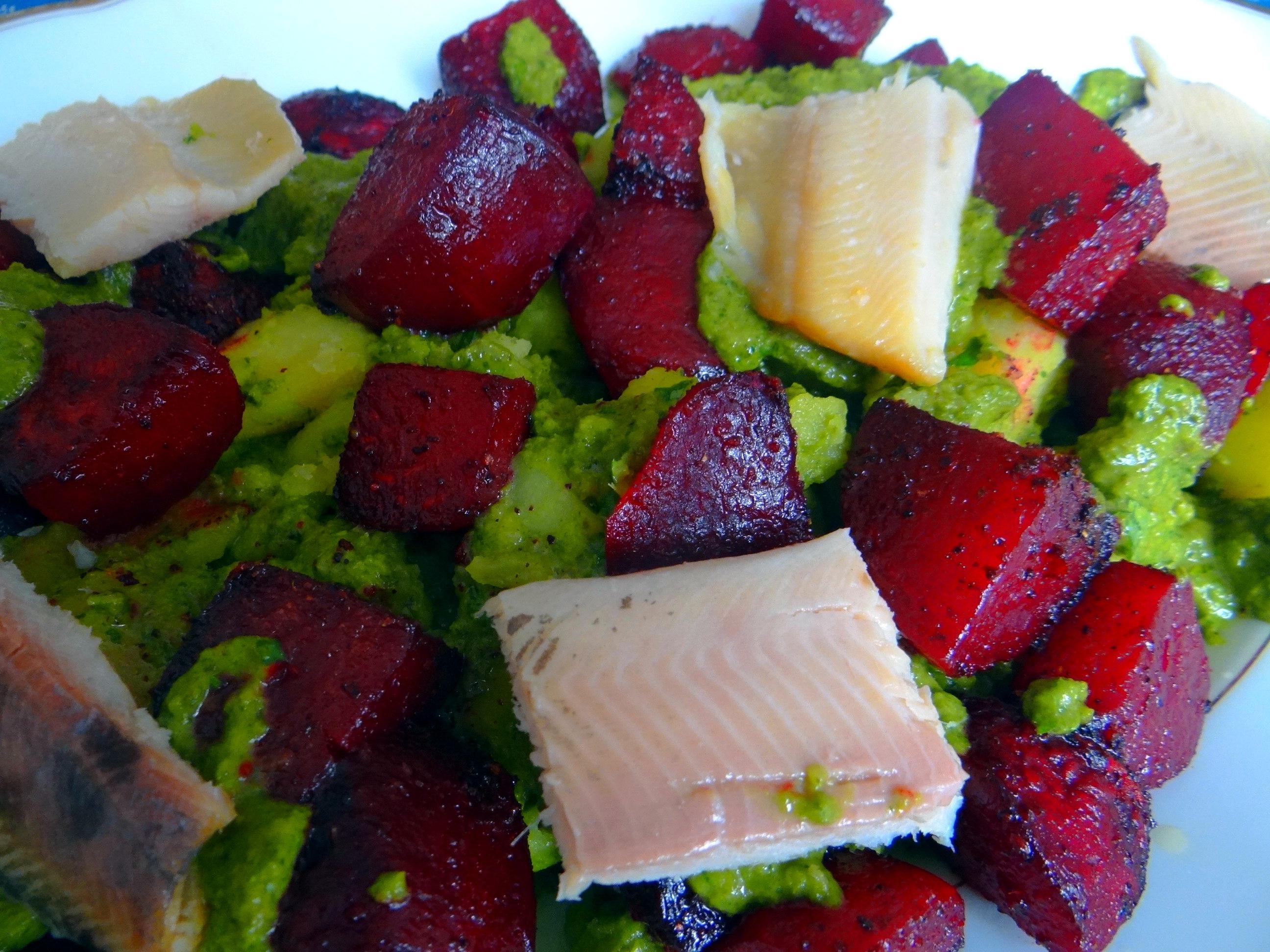 Rote Beete,Kartoffeln,Salsa, (16)