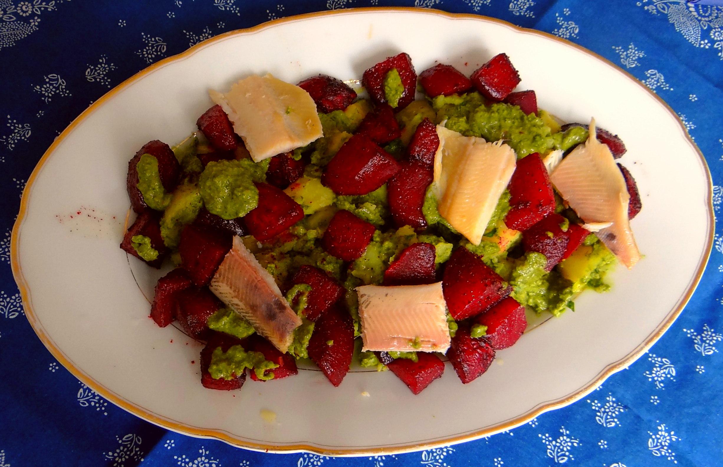 Rote Beete,Kartoffeln,Salsa, (3)
