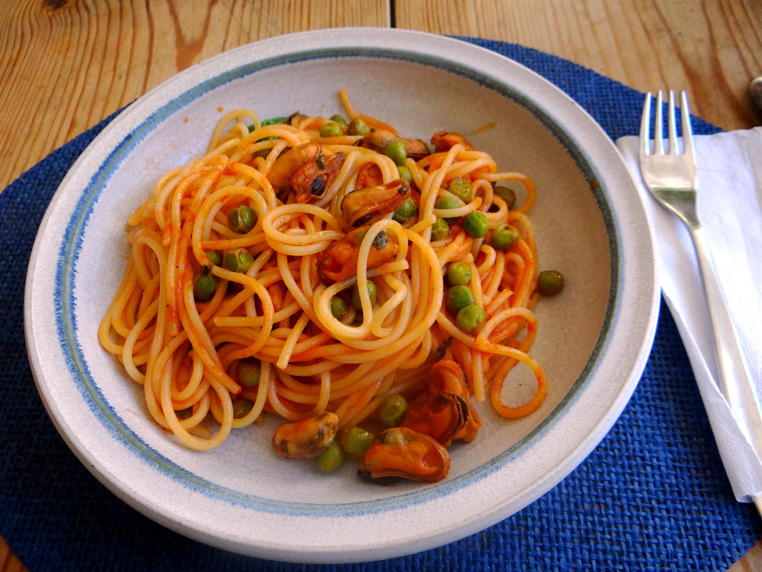 Spaghetti mit Muscheln (3).JPG