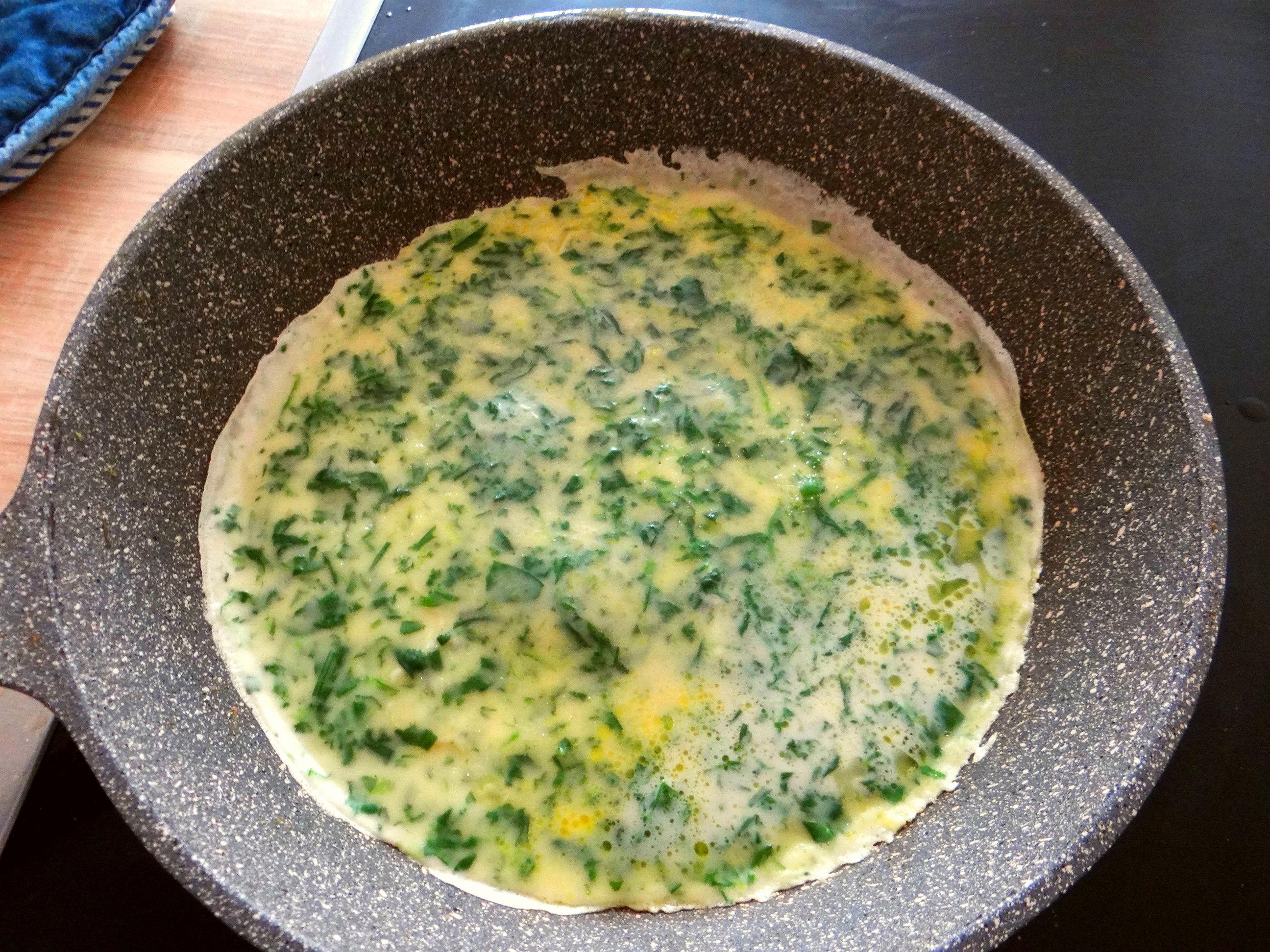 Eierpfannkuchen mit Spinat,Pflücksalat (12)