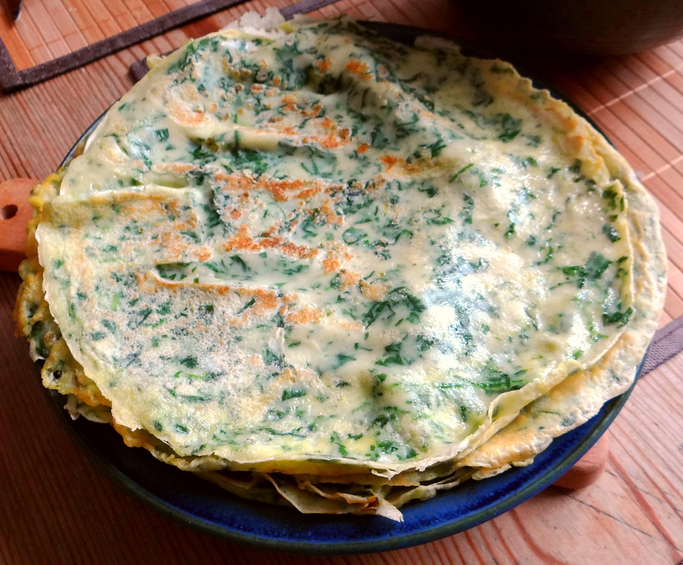 Eierpfannkuchen mit Spinat,Pflücksalat (13)