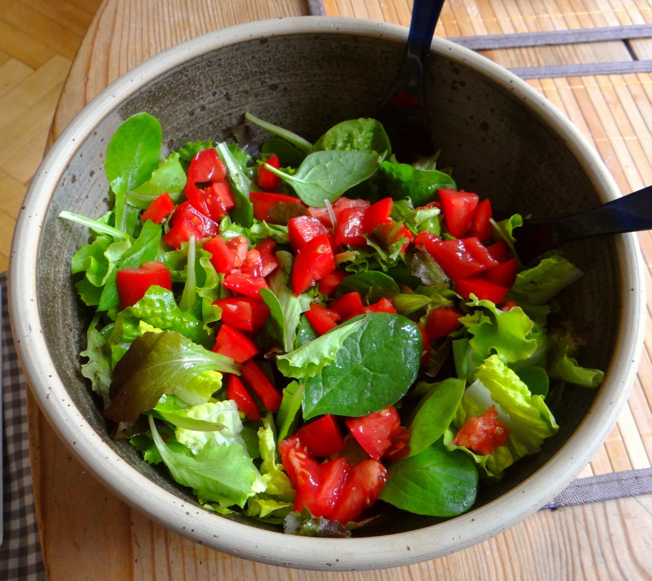 Eierpfannkuchen mit Spinat,Pflücksalat (14)