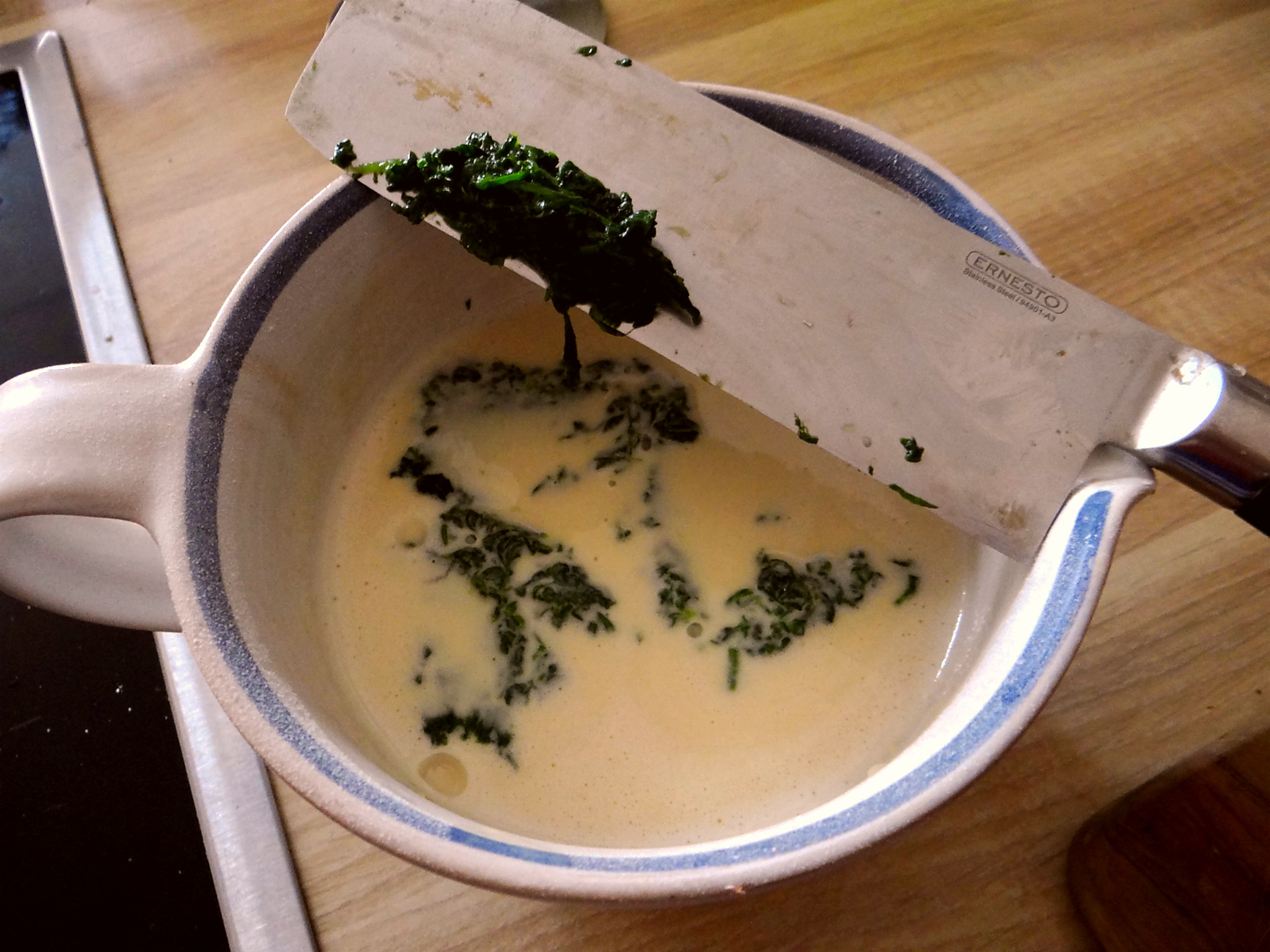 Eierpfannkuchen mit Spinat,Pflücksalat (7)