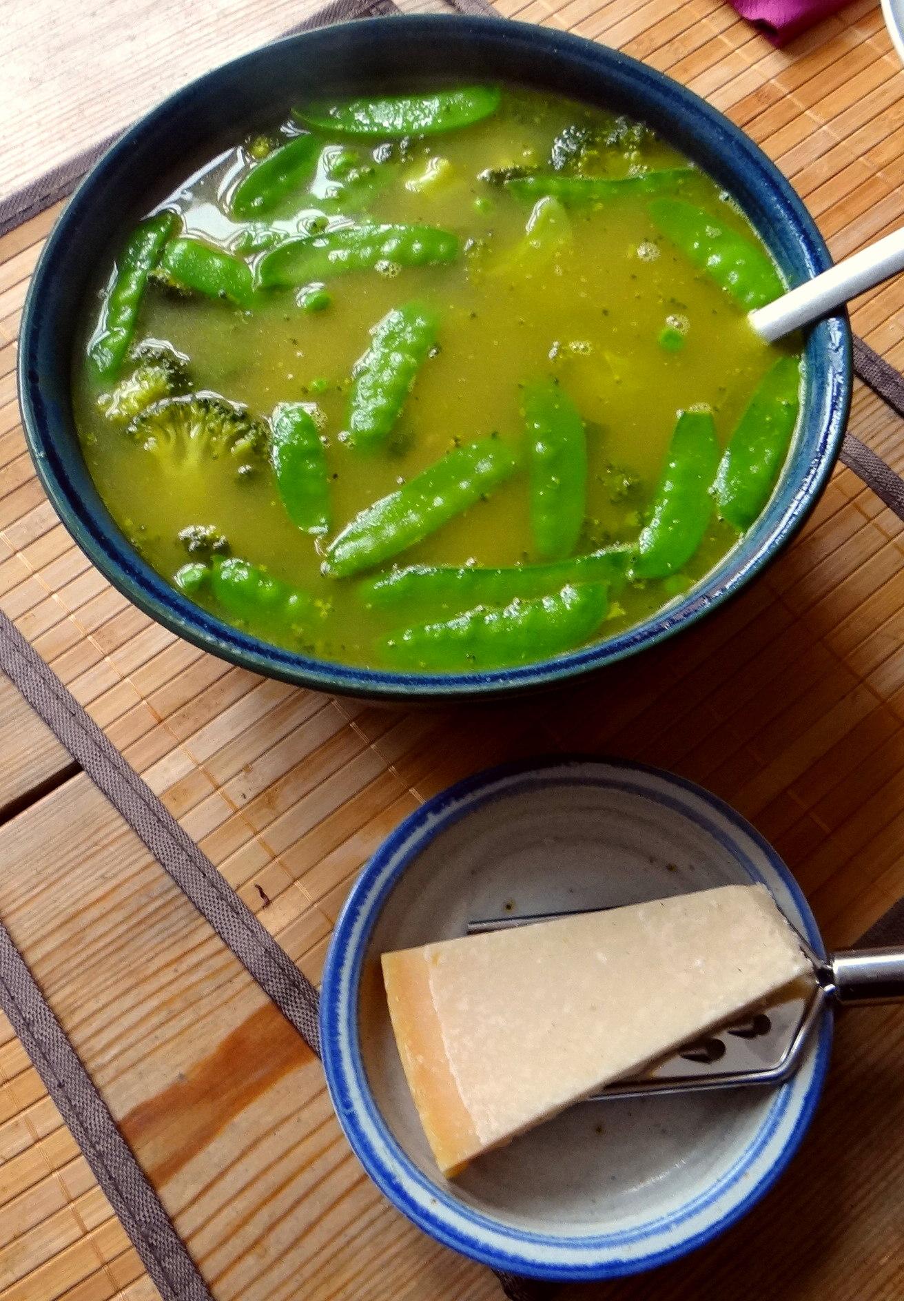 Grüne Suppe,Kritharaki,Quarkspeise (12)
