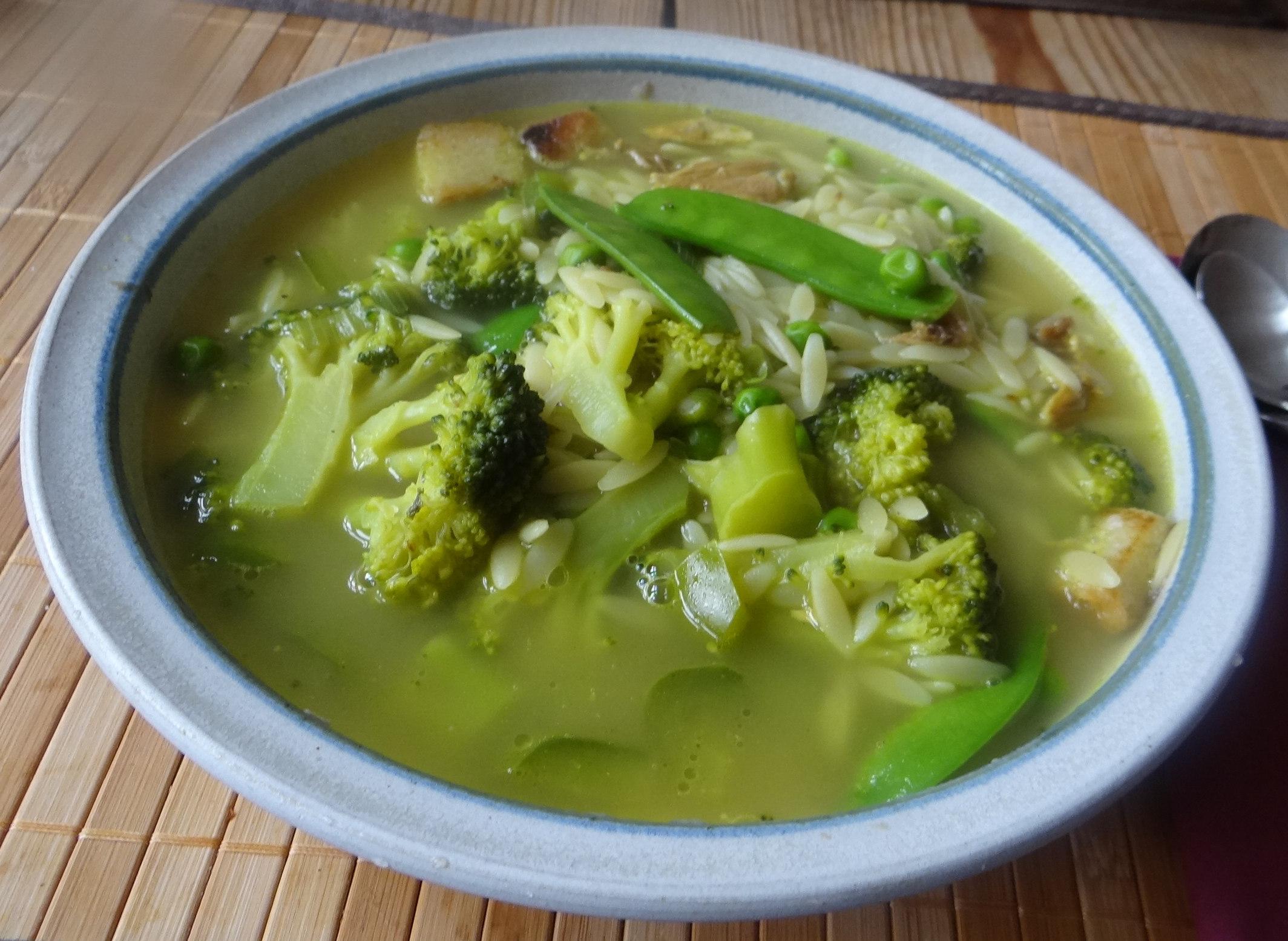 Grüne Suppe,Kritharaki,Quarkspeise (13)