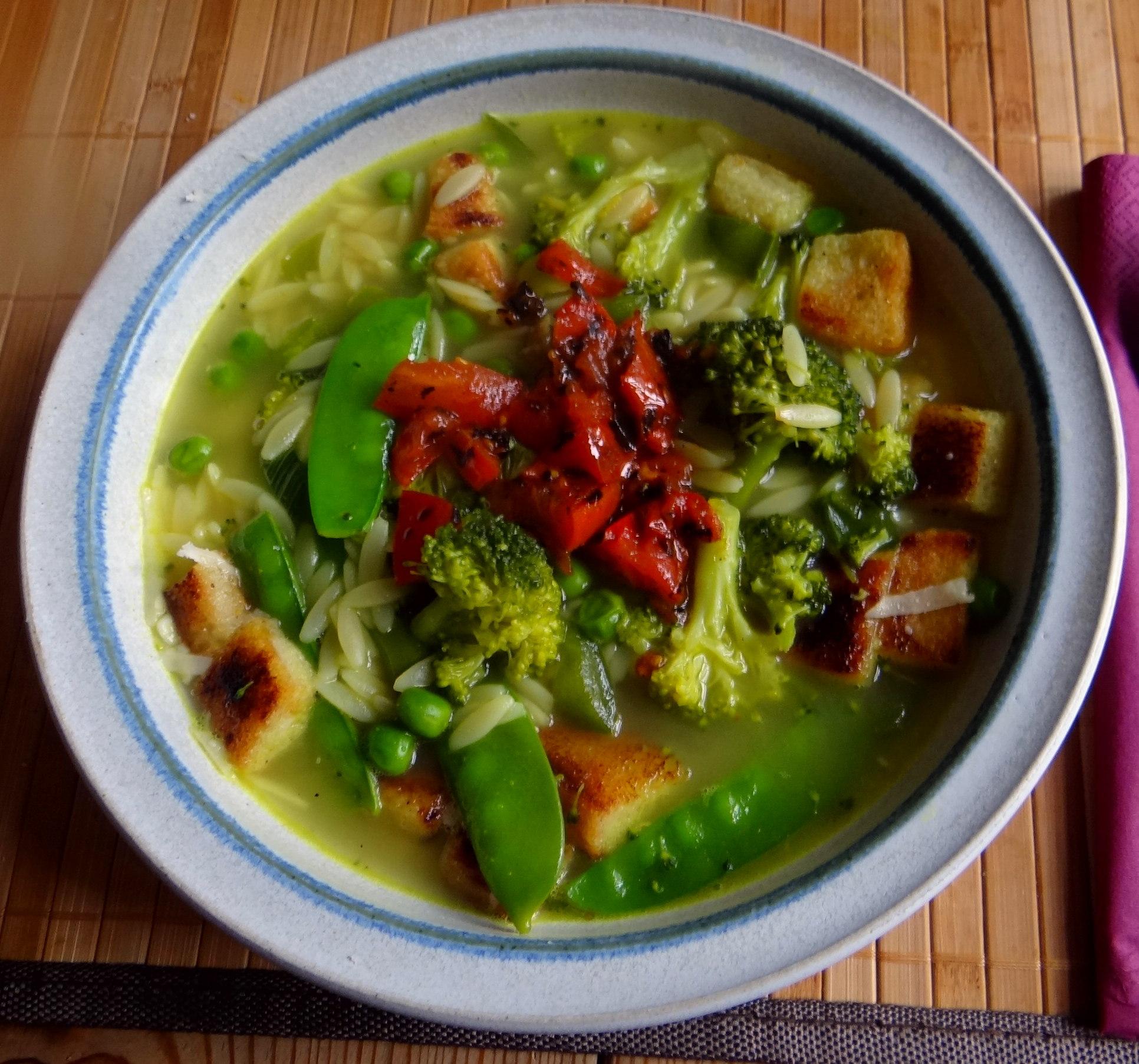 Grüne Suppe,Kritharaki,Quarkspeise (14)