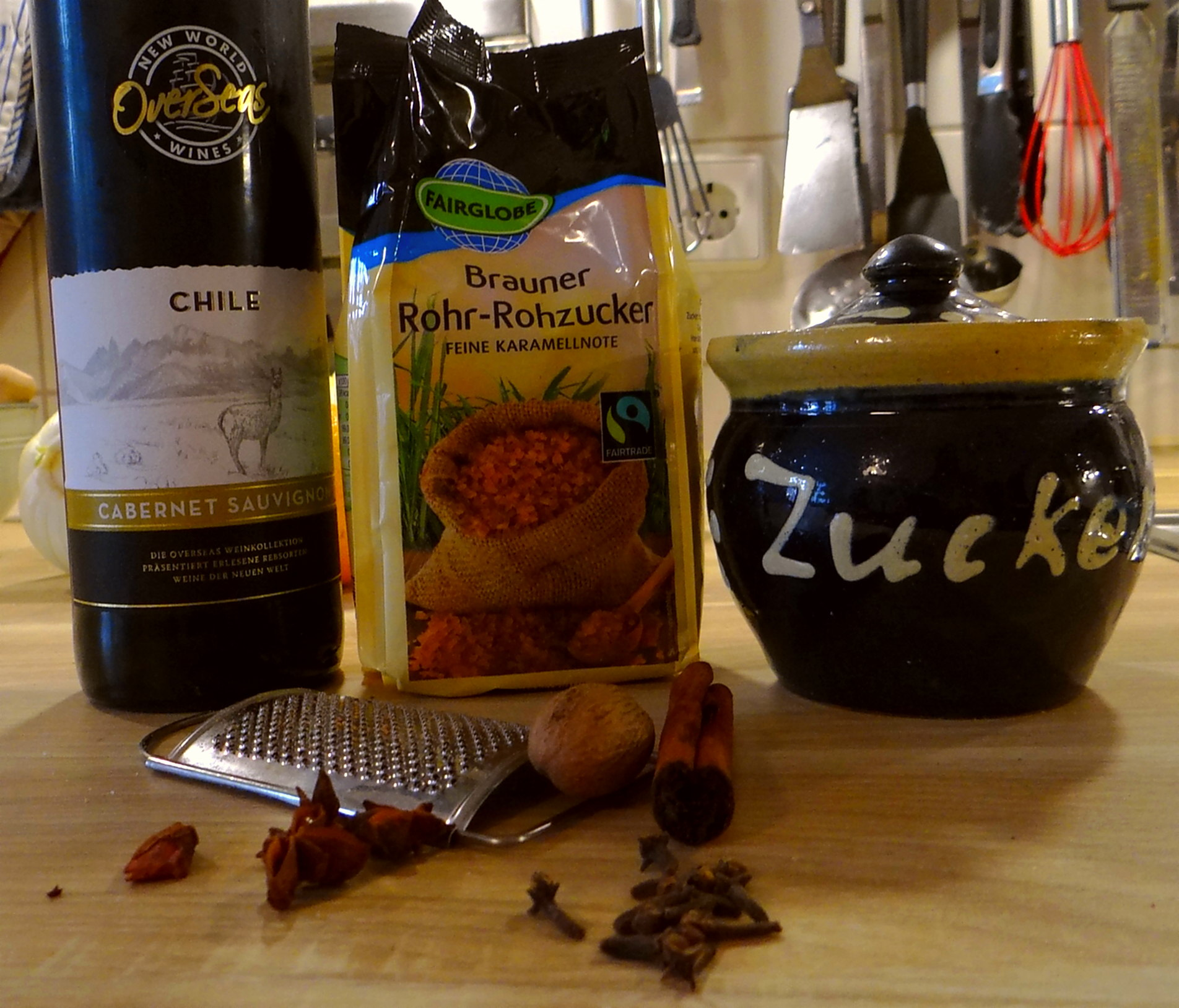 Kabeljau,Fenchel Salat,Kartoffeln,Birnen in Rotwein (14)