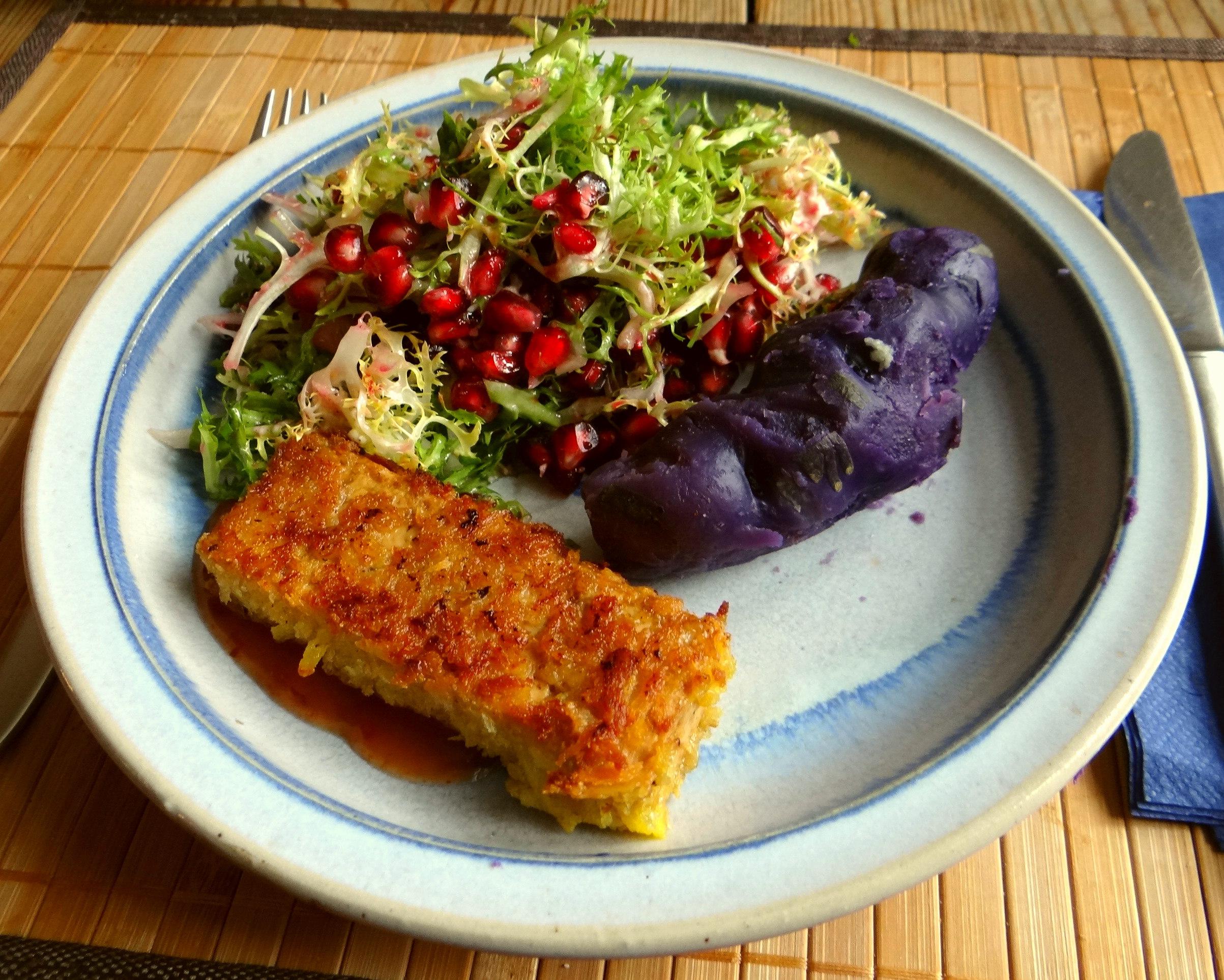 Seidentofu,Frisee Salat,Kartoffel Mix (1)