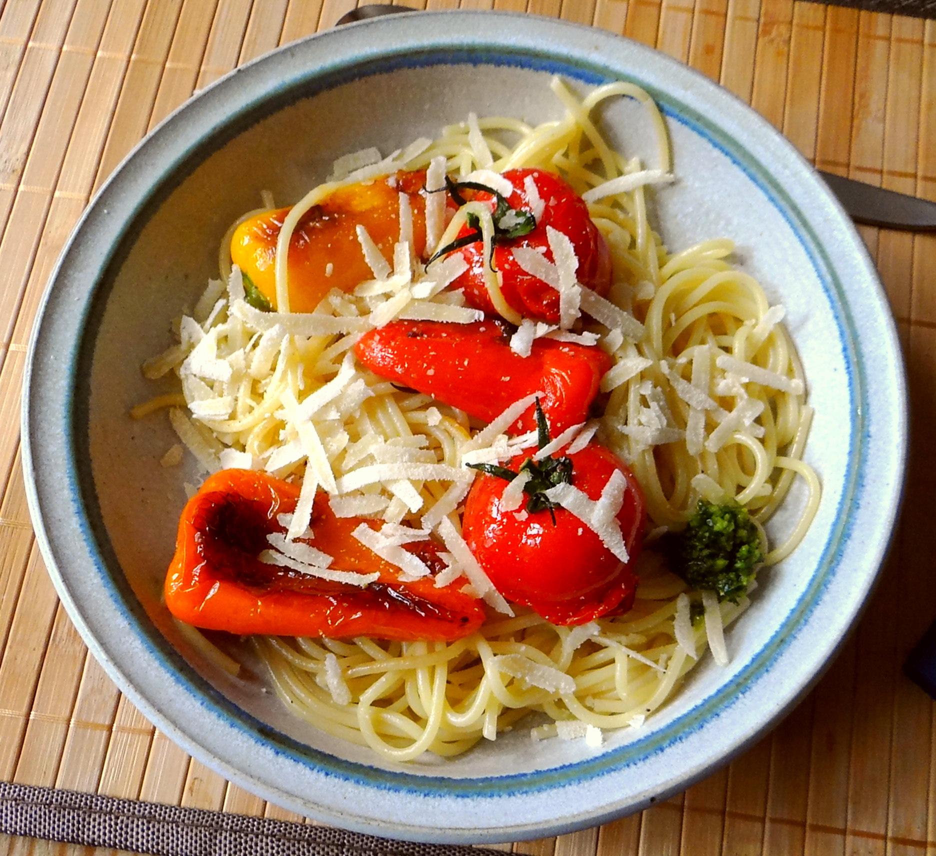 Spaghetti mit Snackpaprika (2)