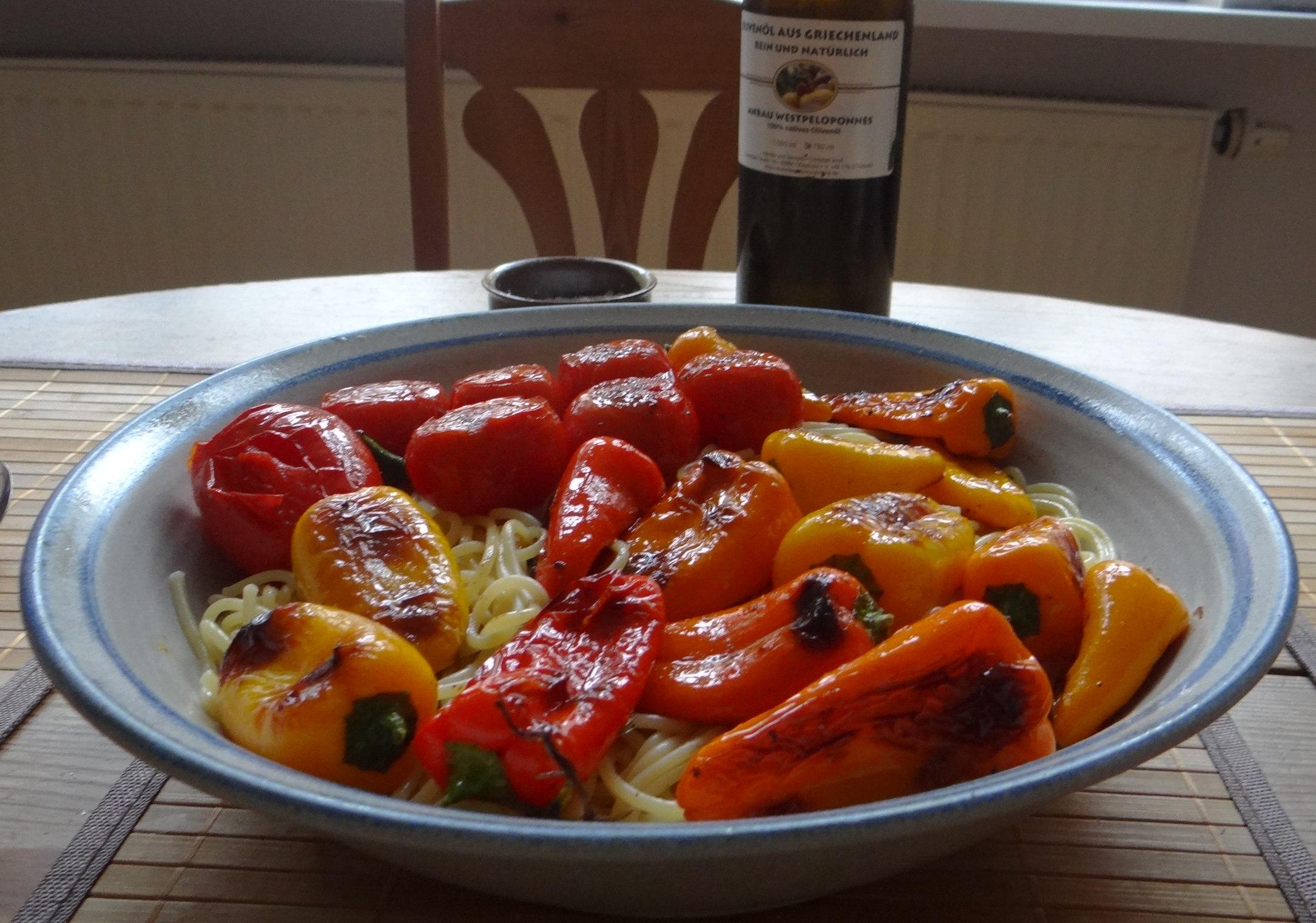 Spaghetti mit Snackpaprika (4)