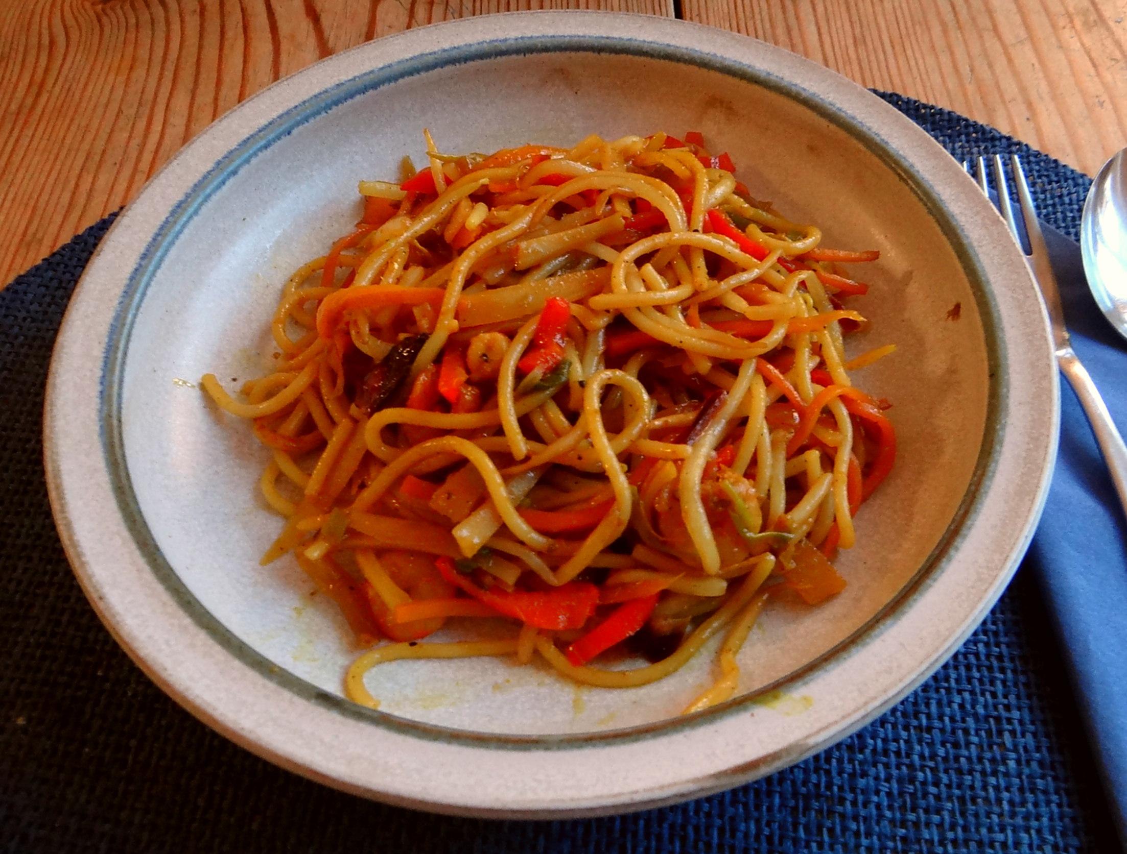 Asiatische Shrimpspfanne (2)