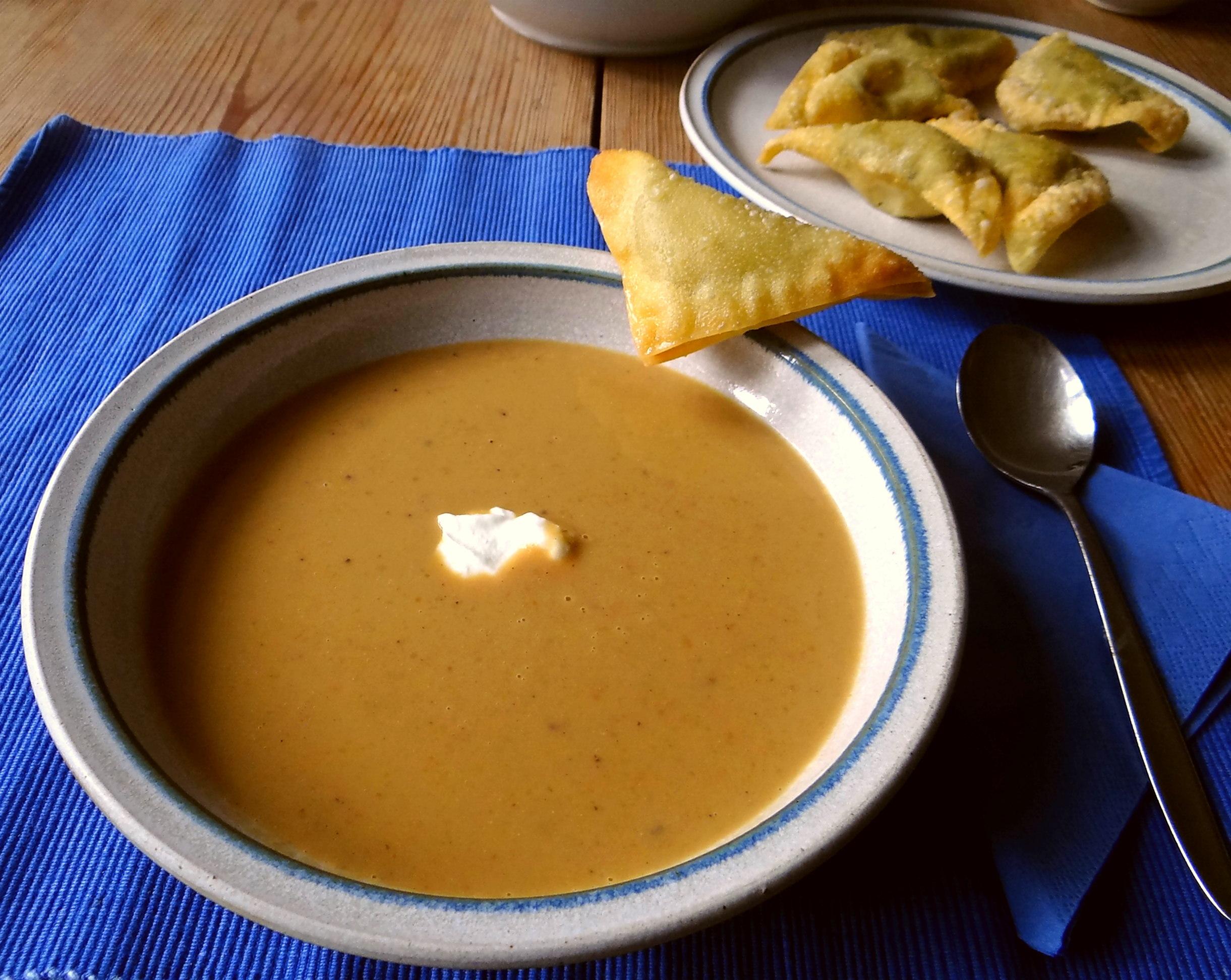 Maronensuppe,Teigtaschen,Wan Tan (15)