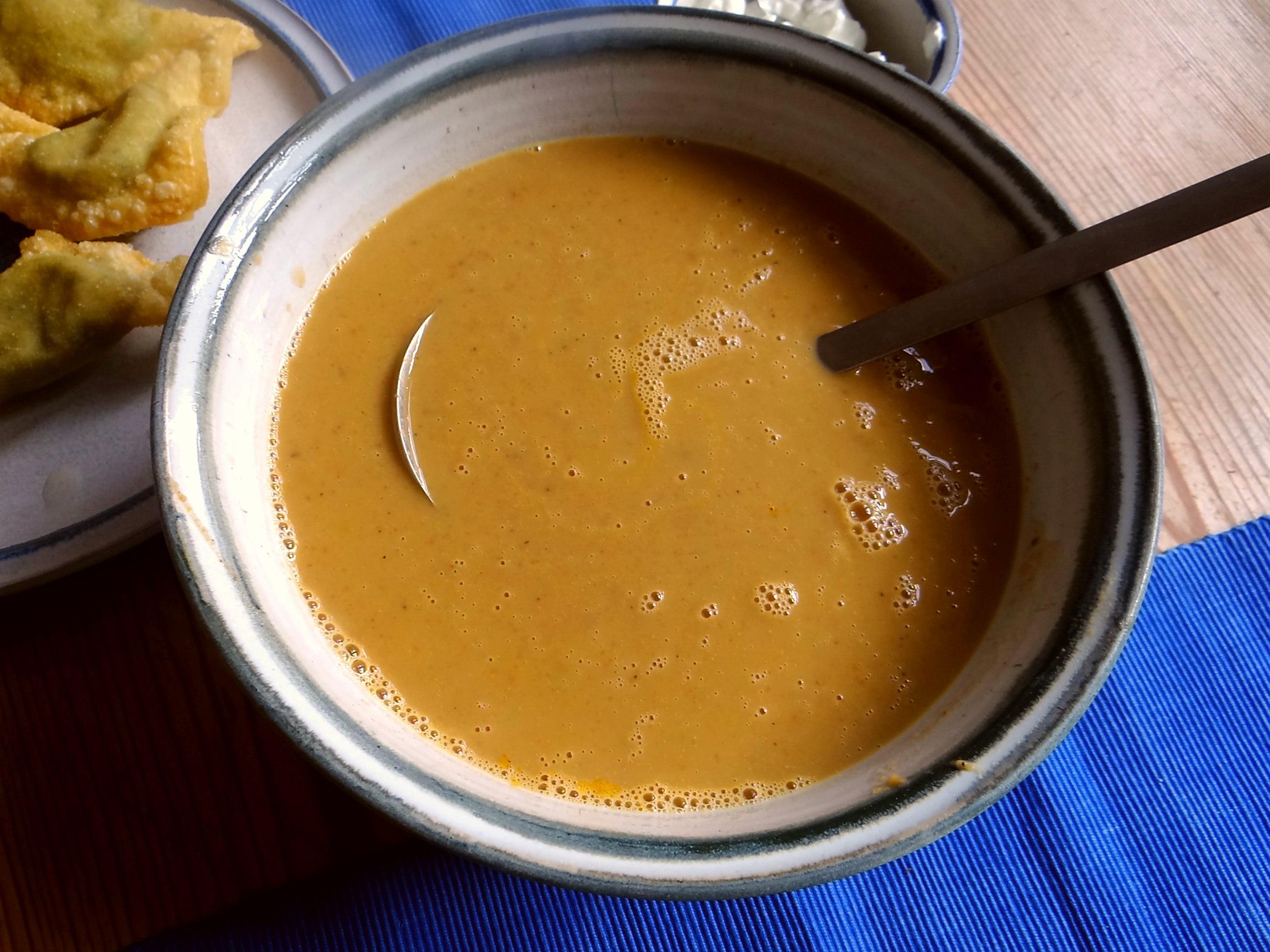Maronensuppe,Teigtaschen,Wan Tan (7)