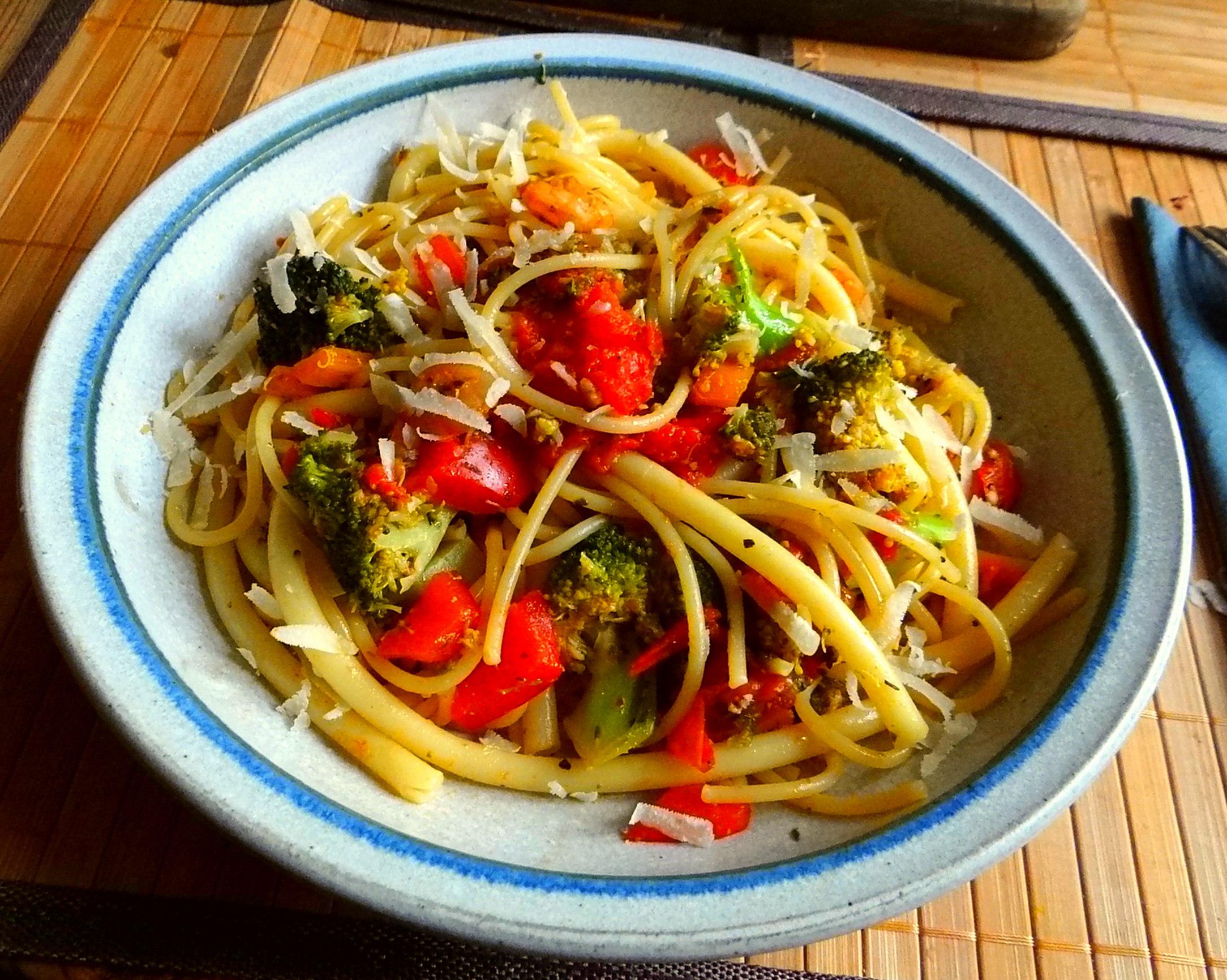 Nudeln,Garnelen,Gemüse (11)