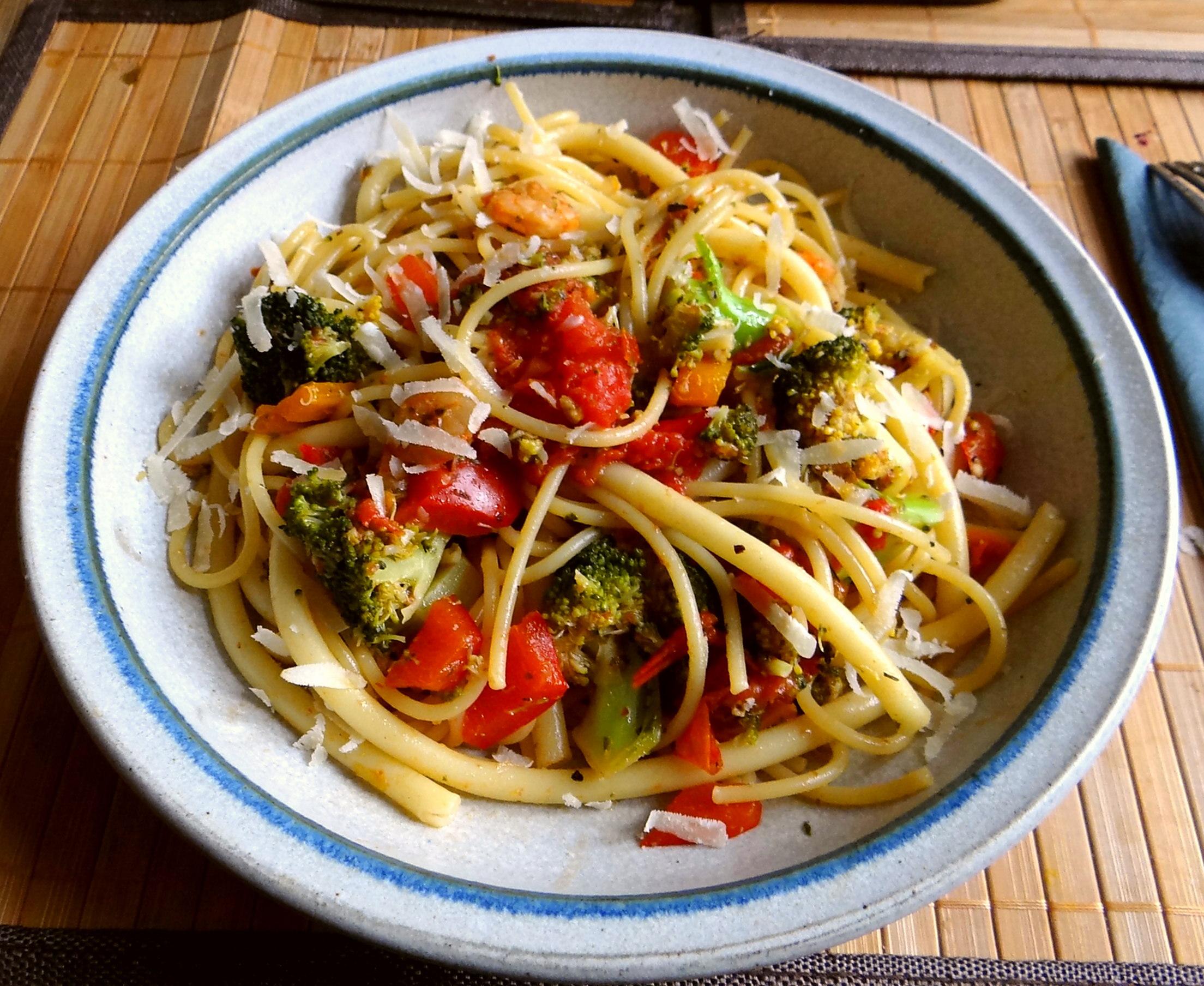 Nudeln,Garnelen,Gemüse (2)