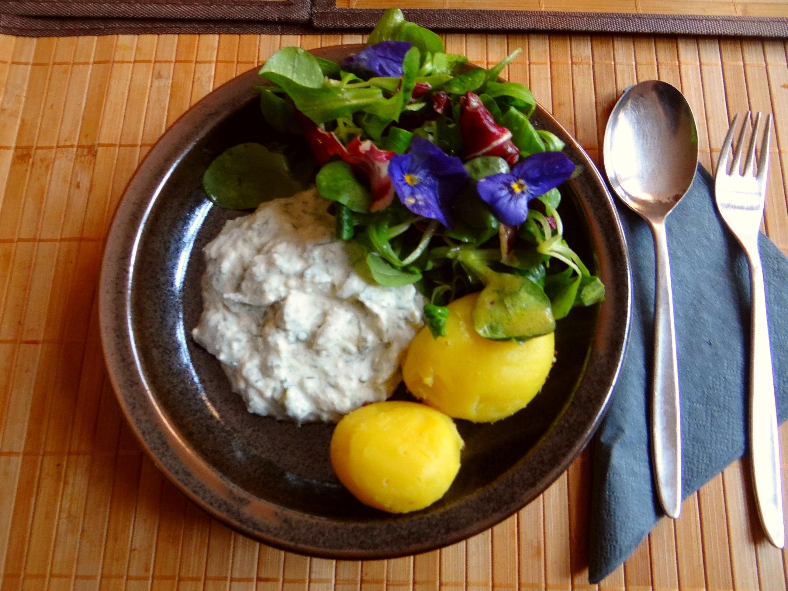 Quark und bunter Salat (2)