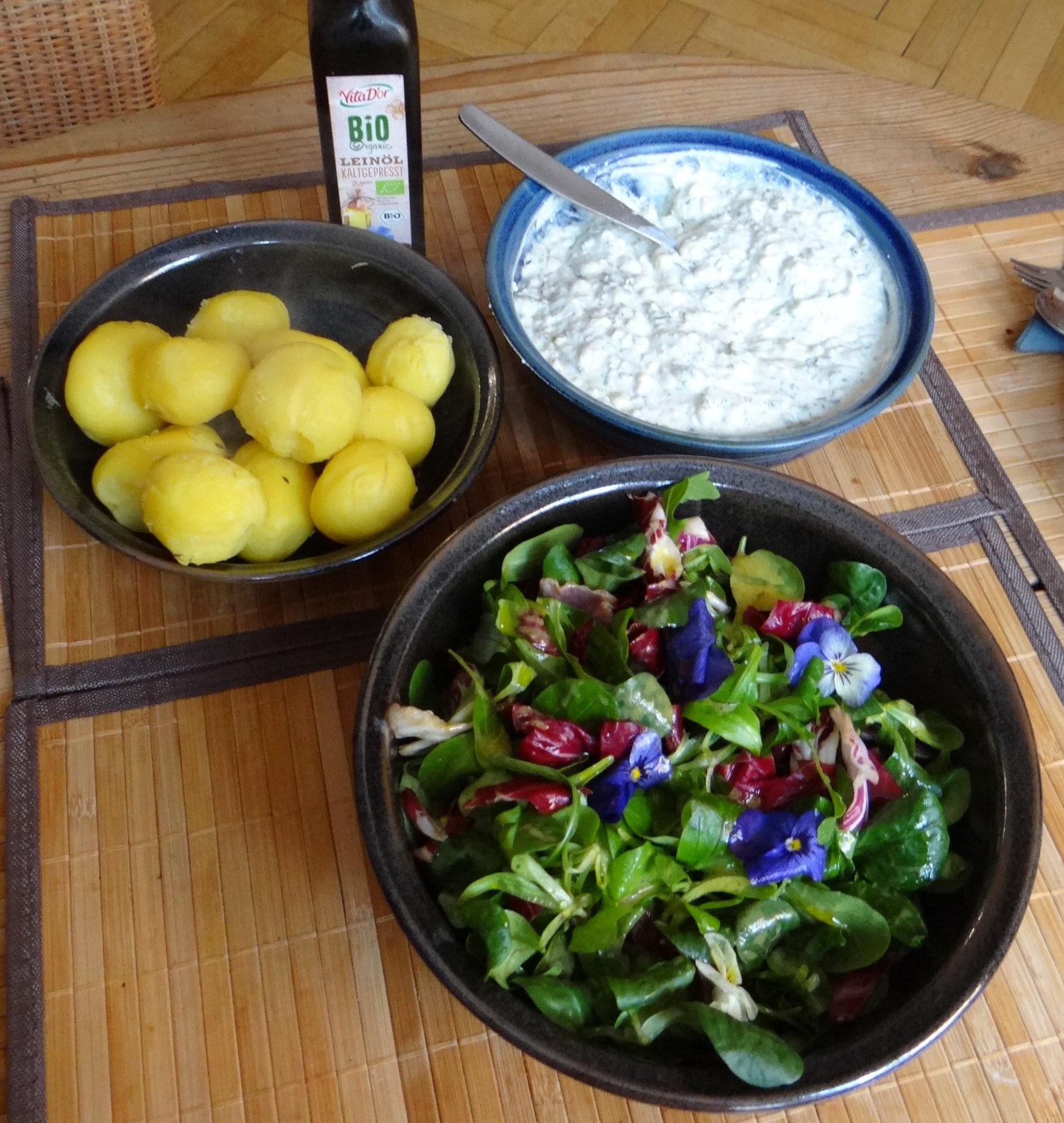 Quark und bunter Salat (7)