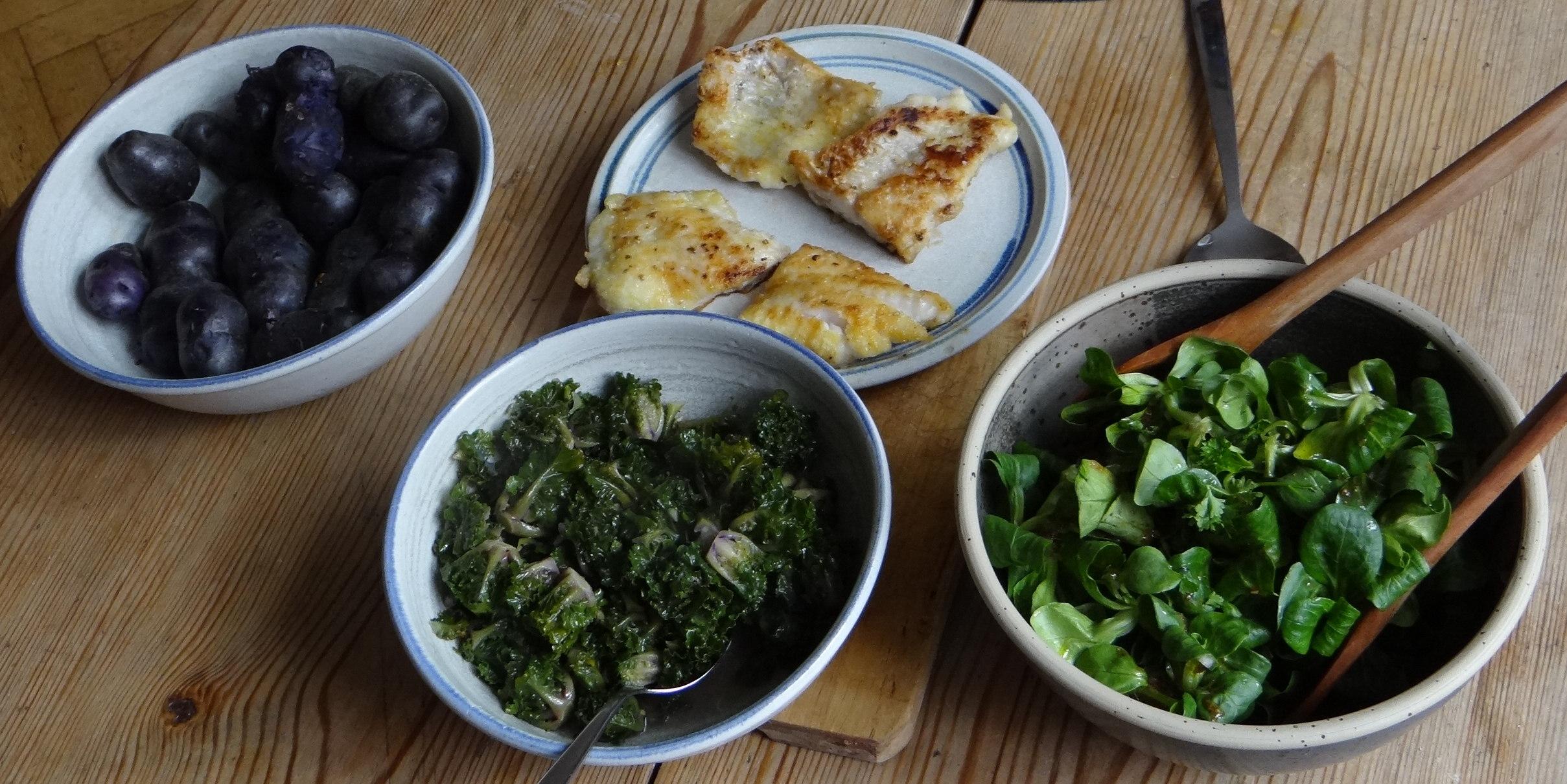 Rotbarsch,Kohlröschen,violette Kartoffeln (4)