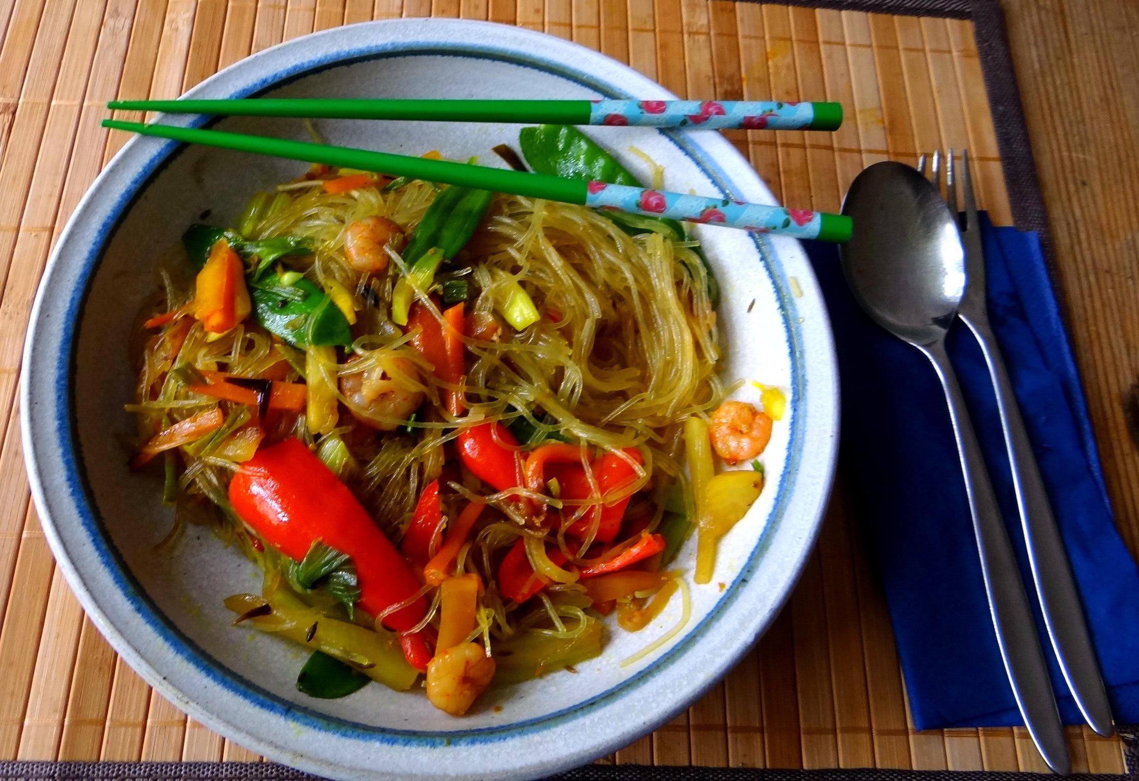 Asiatisches Gemüse mit Garnelen (1)