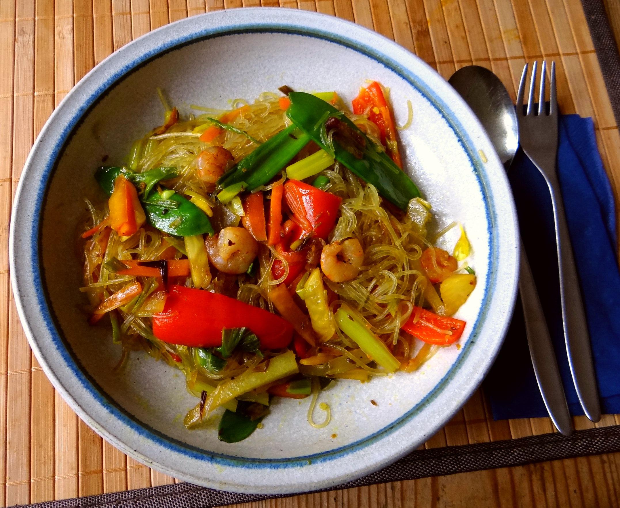 Asiatisches Gemüse mit Garnelen (2)