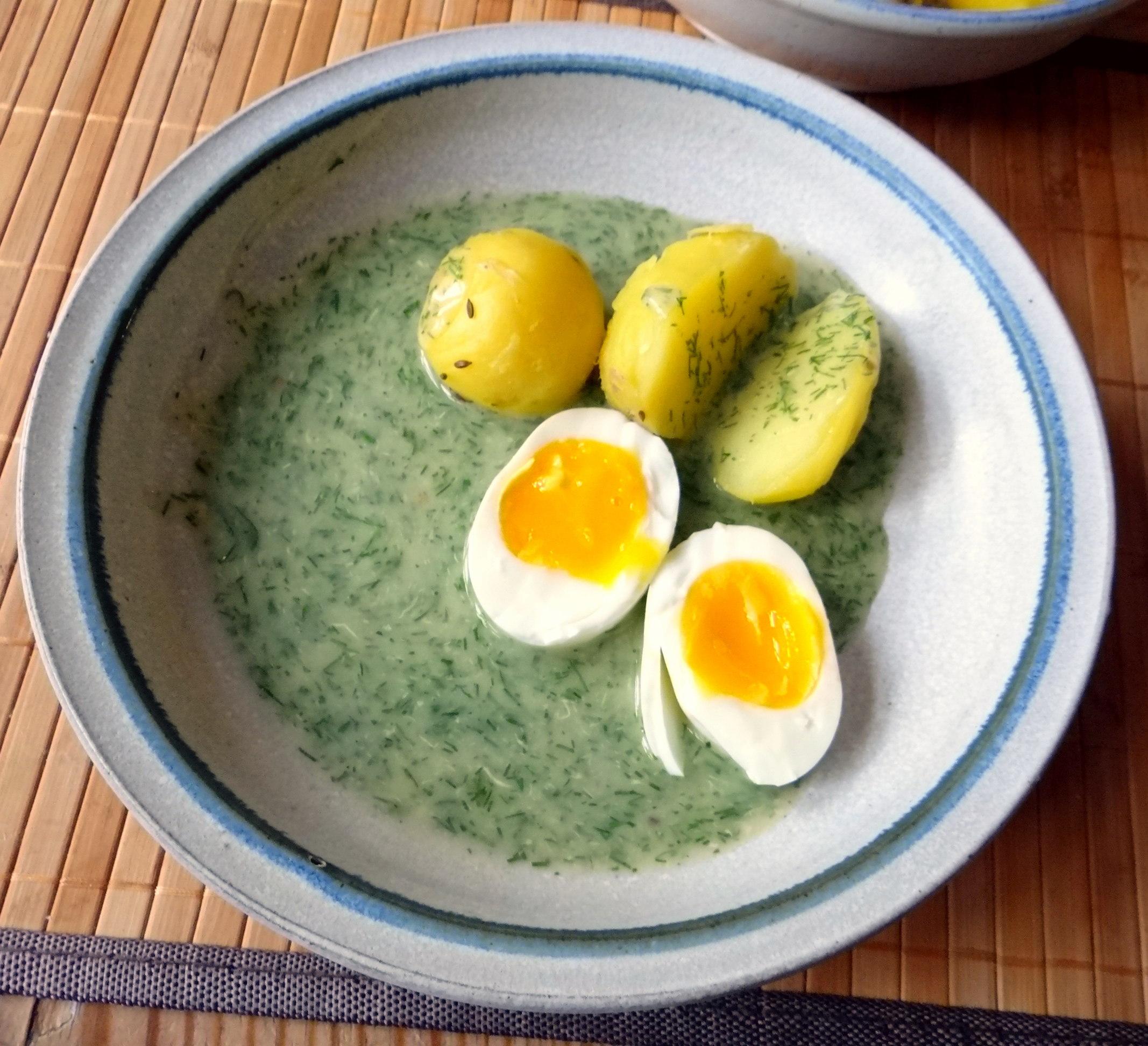 Dillsauce,Kartoffeln,Eier,Birnen (1)