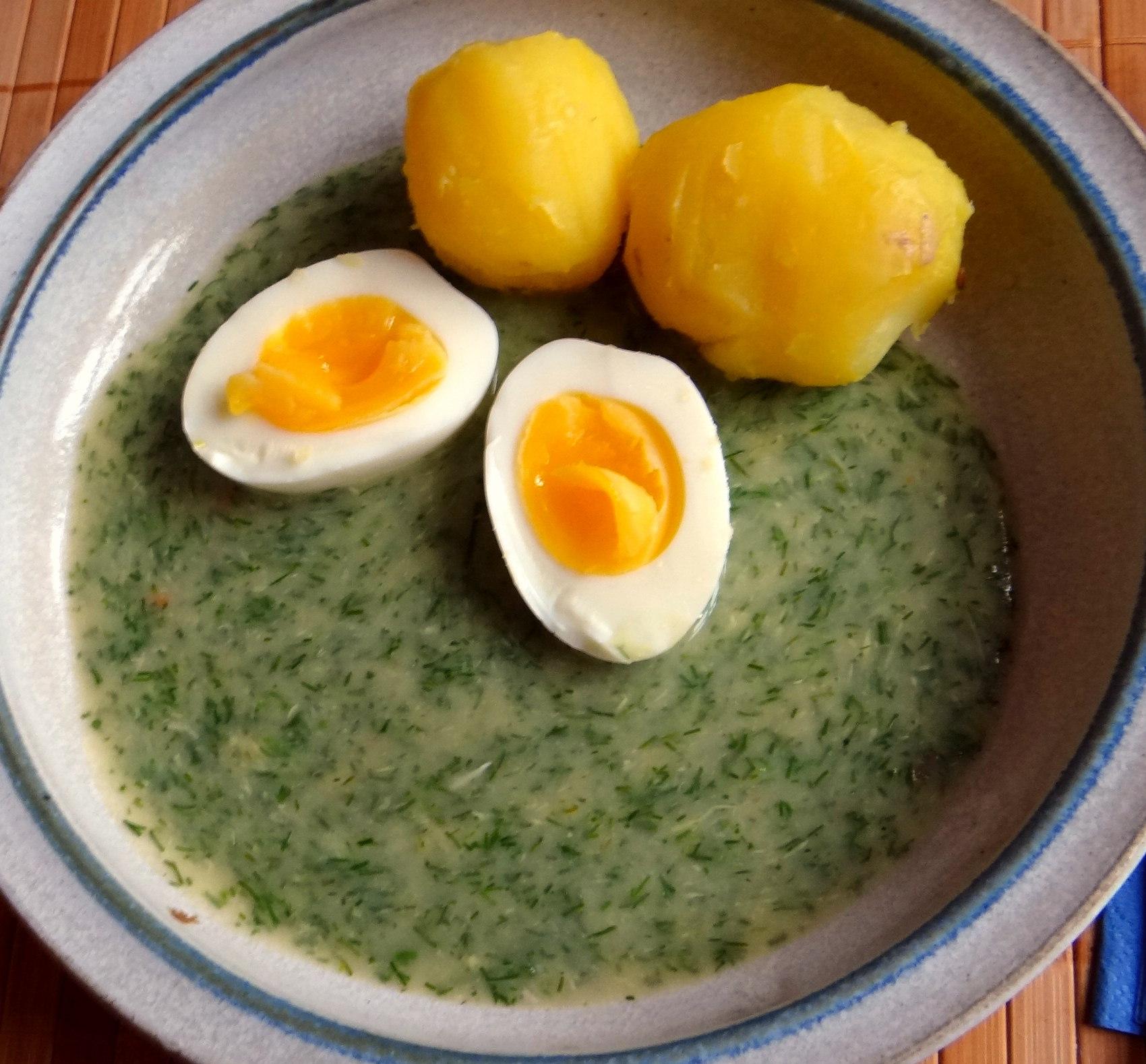Dillsauce,Kartoffeln,Eier,Birnen (2)