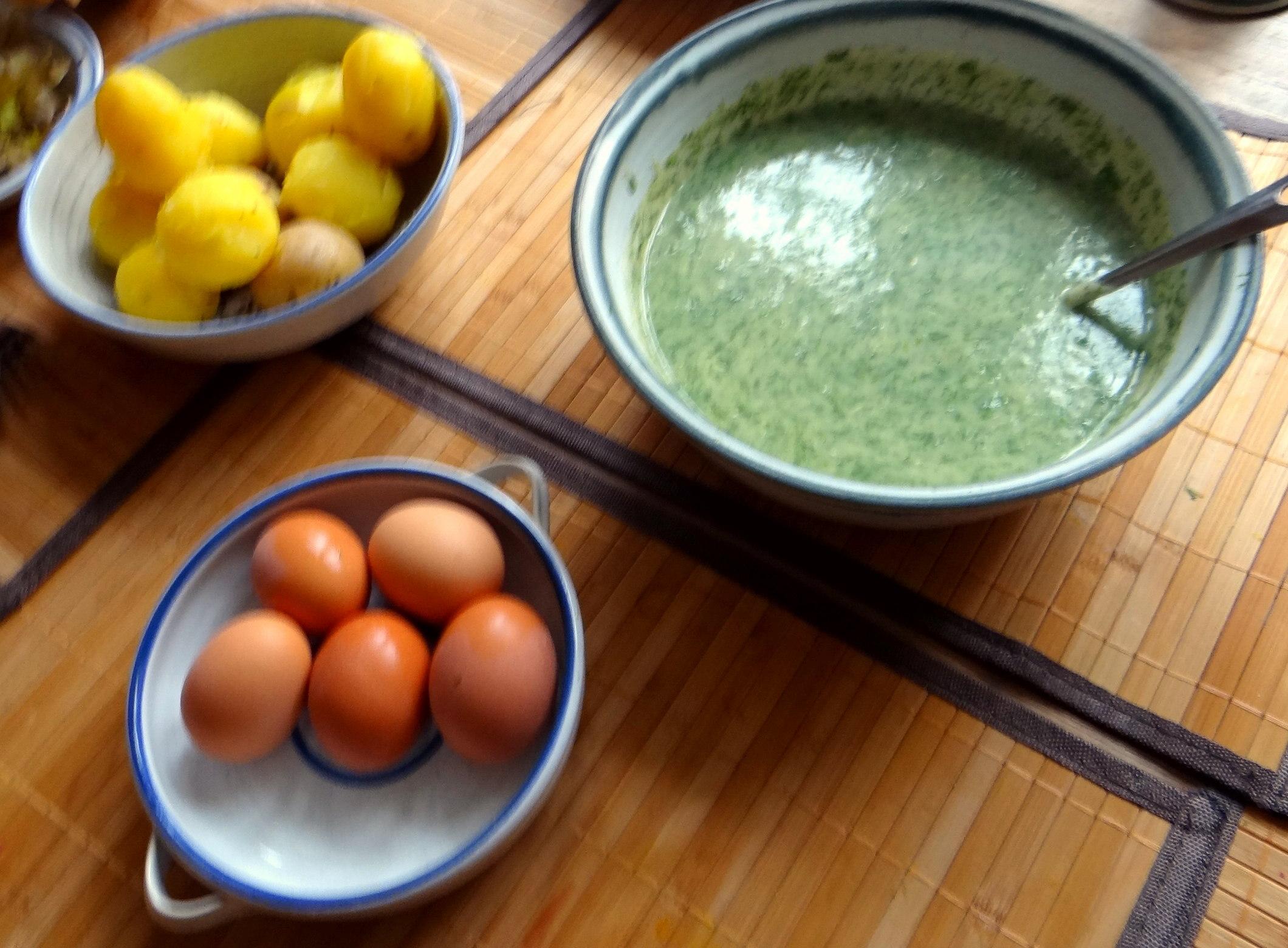 Dillsauce,Kartoffeln,Eier,Birnen (4)