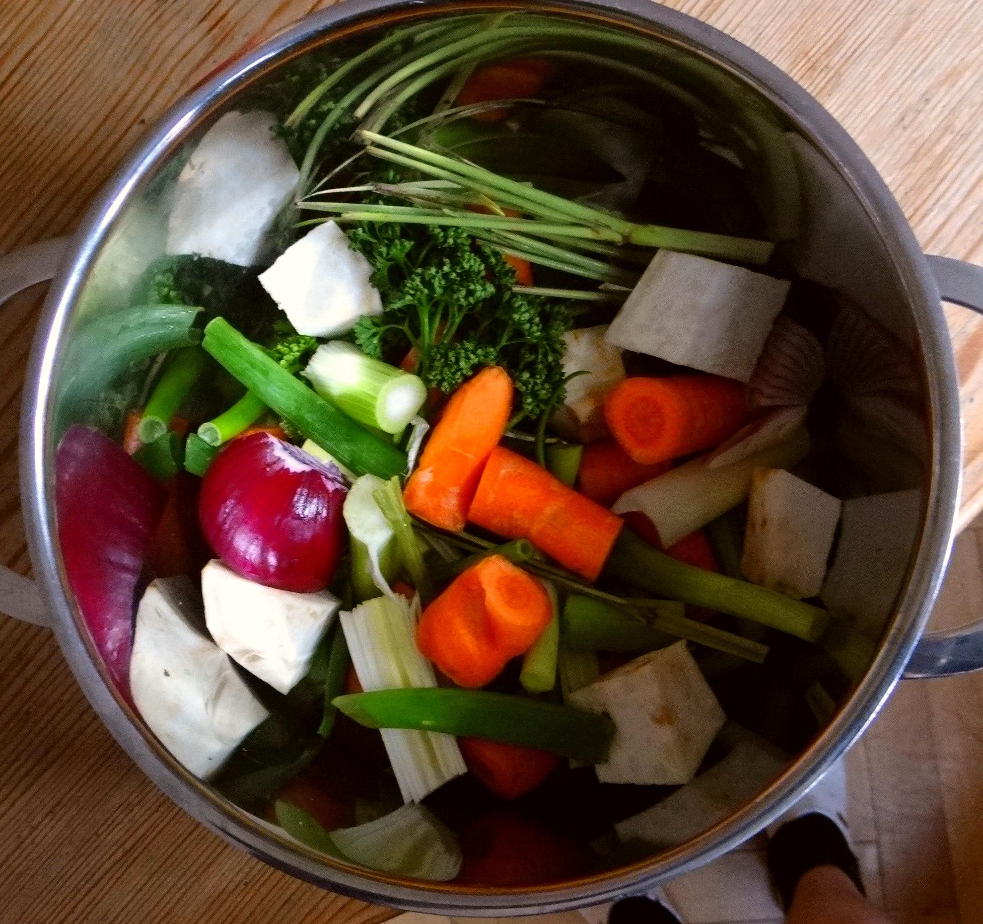 Kartoffelsuppe mit Garnelen (6)