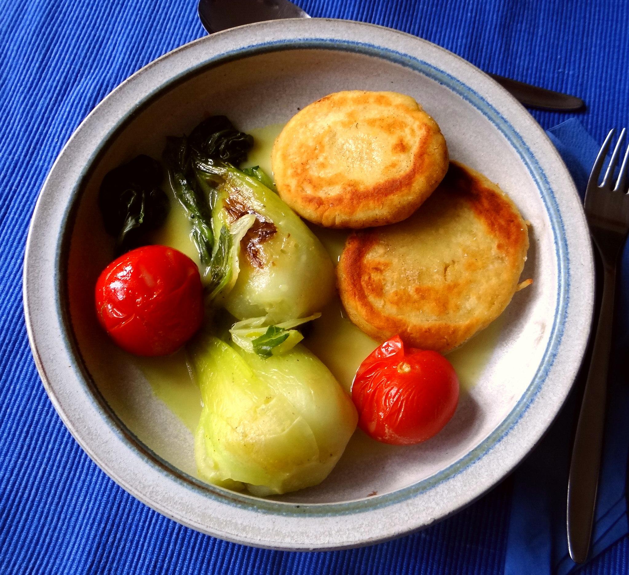 Pak Choy,Kartoffeltaler,Quarkspeise (1)