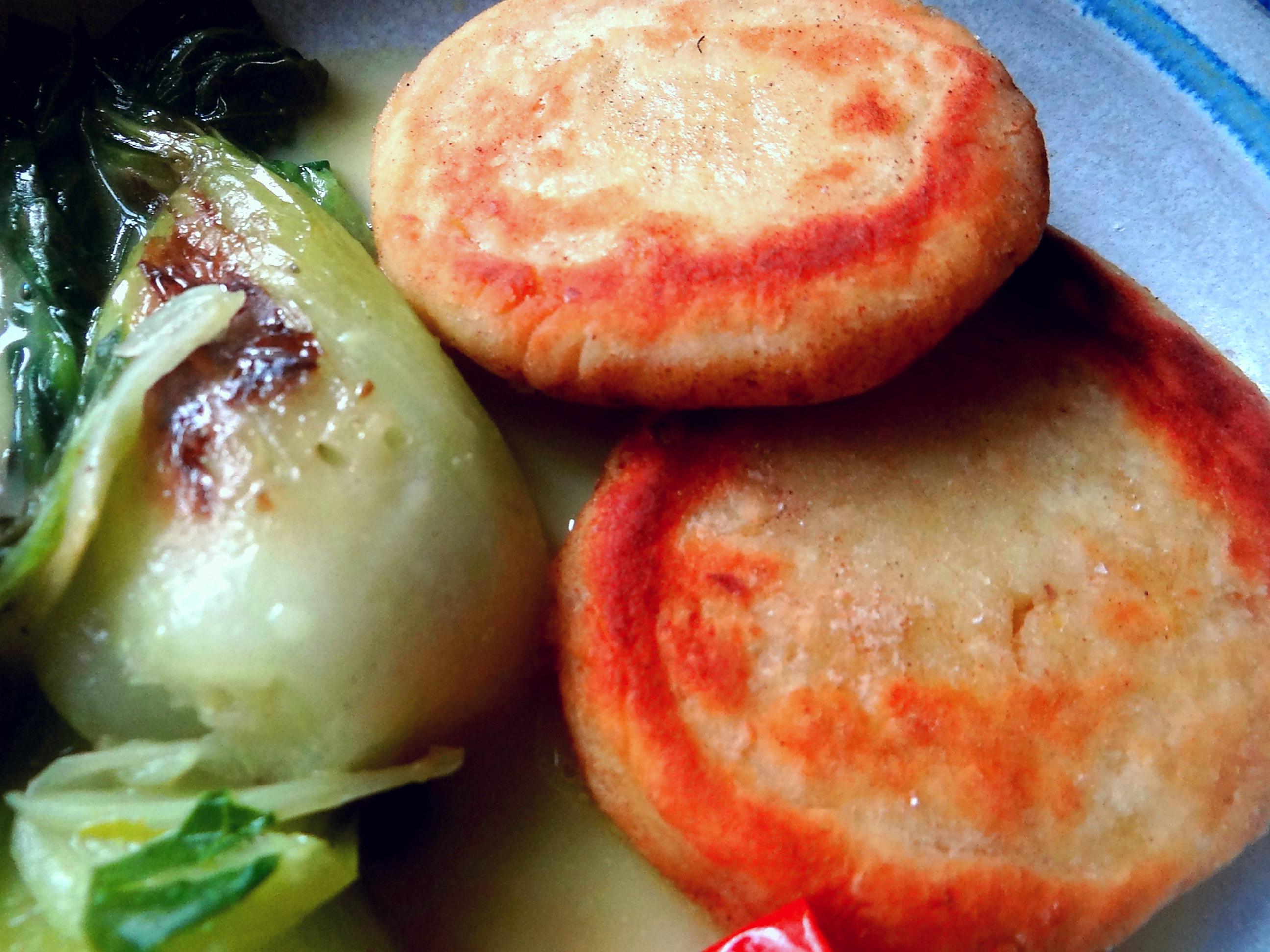 Pak Choy,Kartoffeltaler,Quarkspeise (3)
