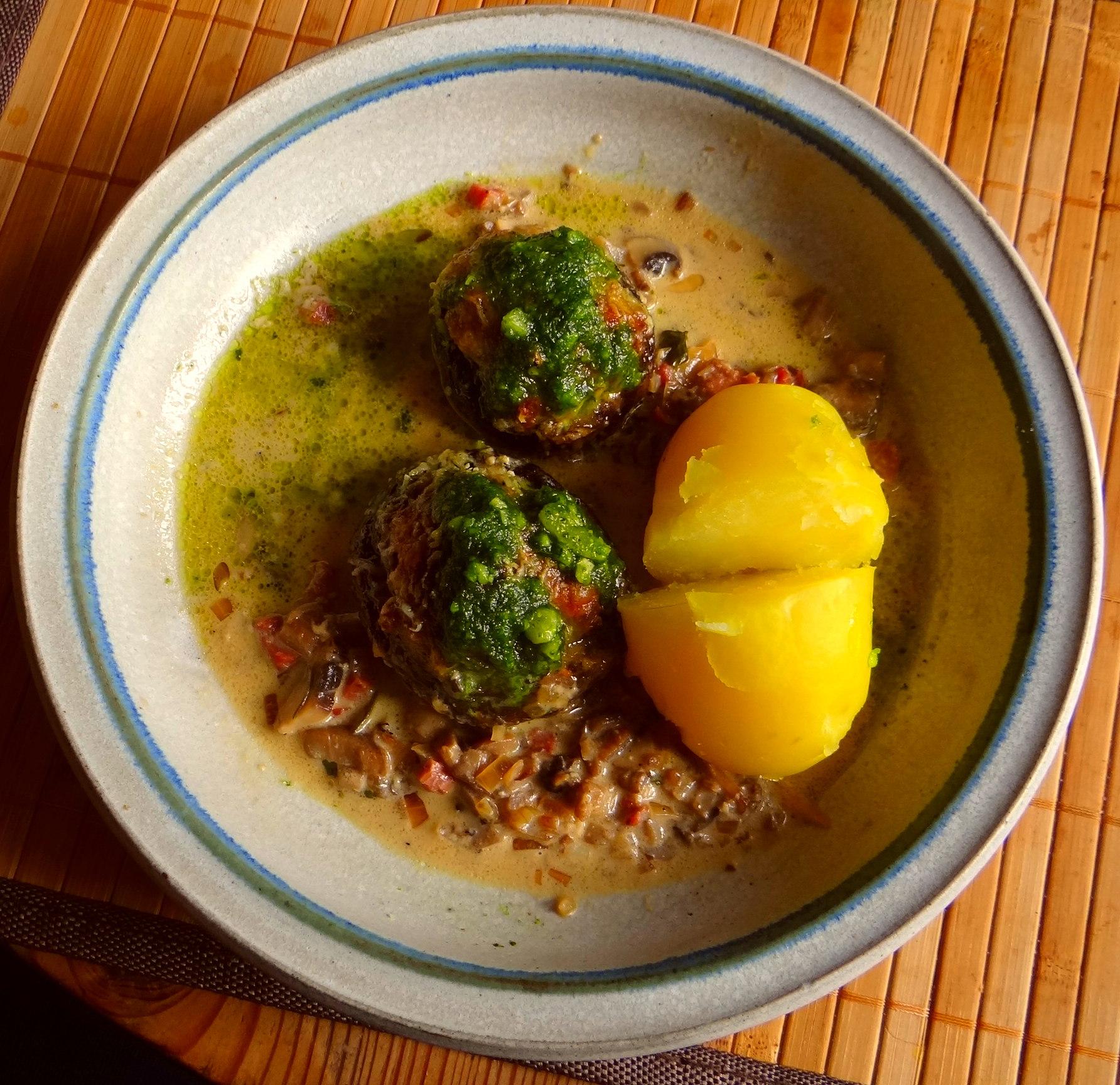 Portobello mit Mett (1)