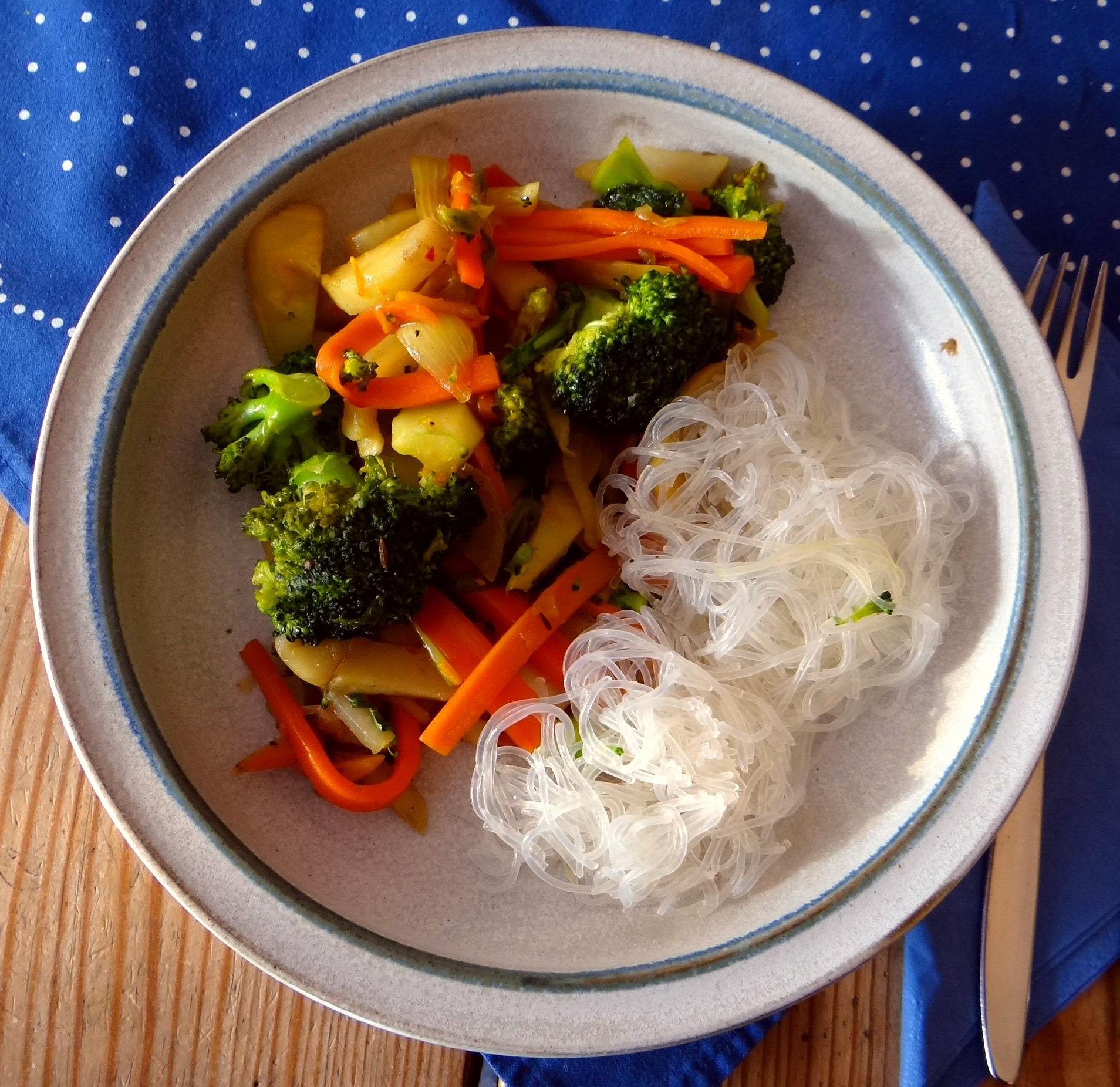 Asia Wokgemüse mit Glasnudeln (2)