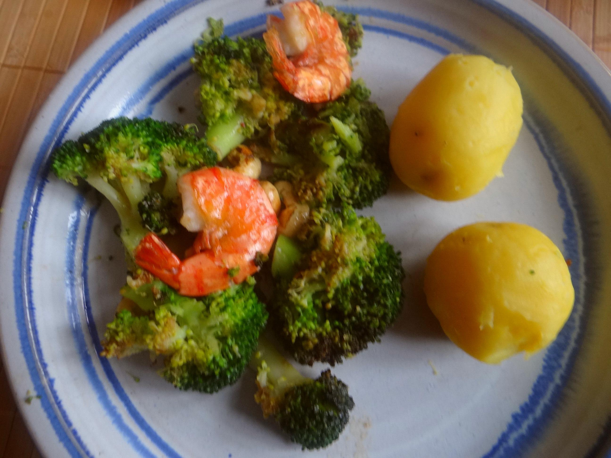Brokkoli mit Riesengarnelen (1)