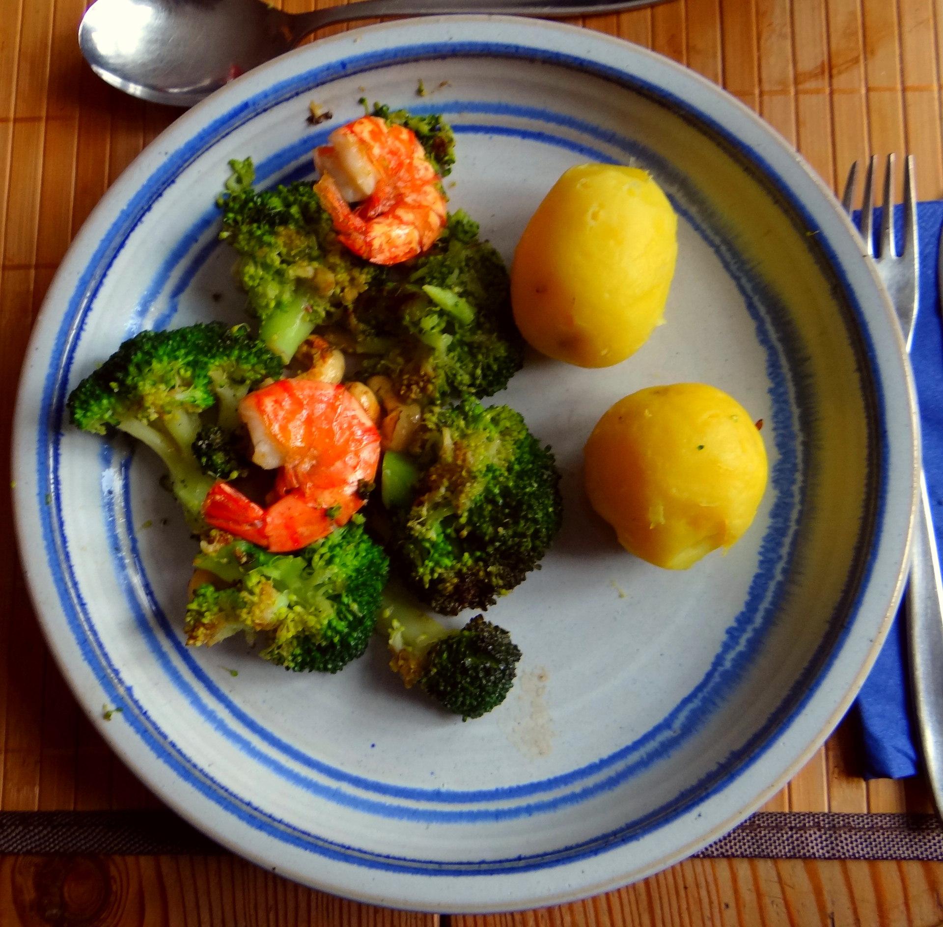 Brokkoli mit Riesengarnelen (8)