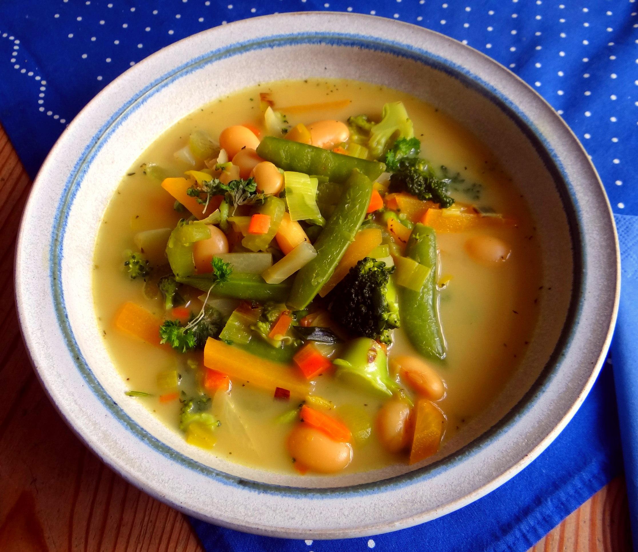 Gemüsesuppe mit weißen Bohnen (1)