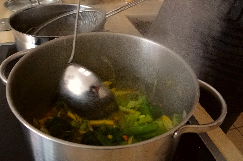 Gemüsesuppe mit weißen Bohnen (10)