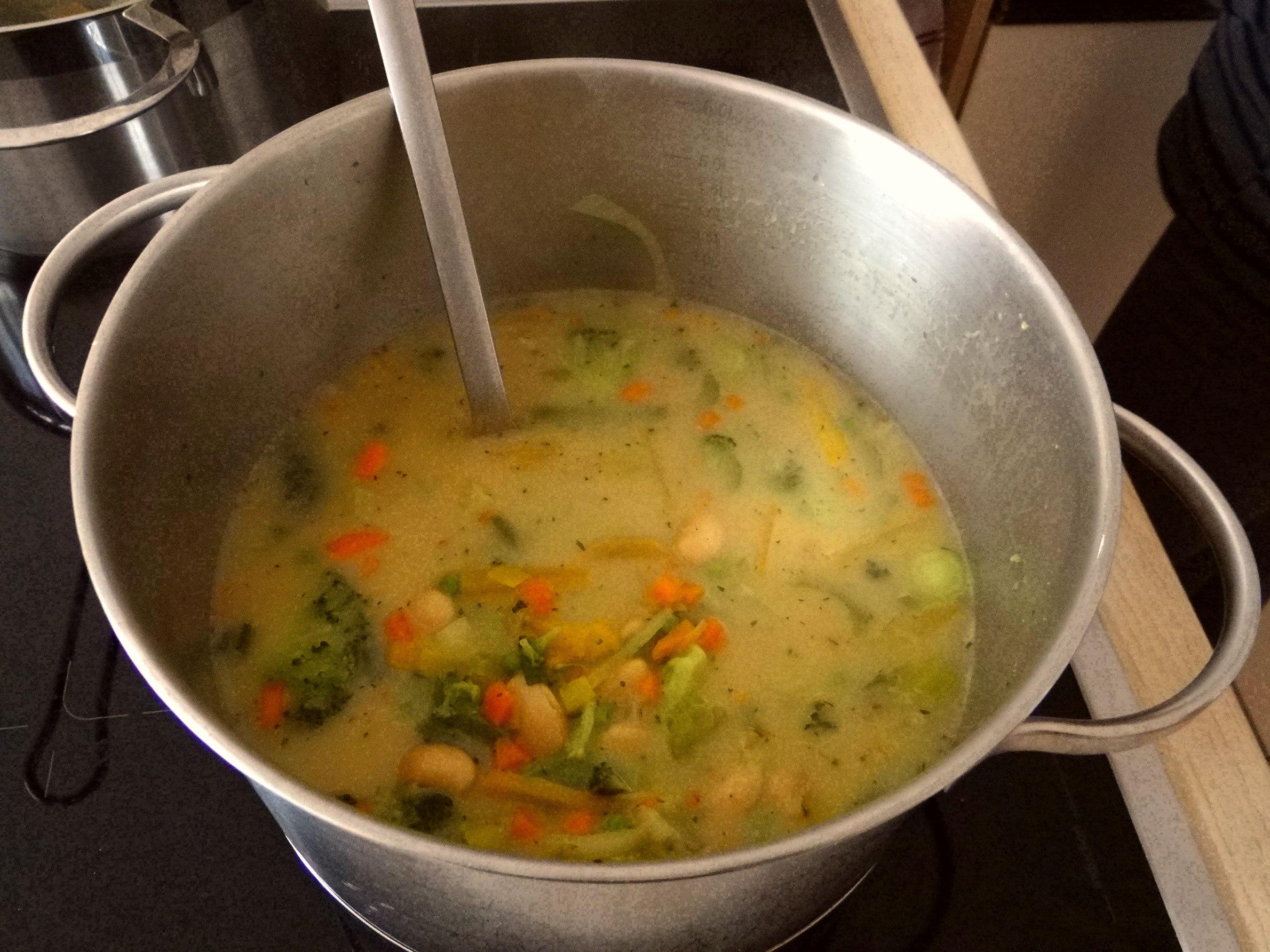 Gemüsesuppe mit weißen Bohnen (12)