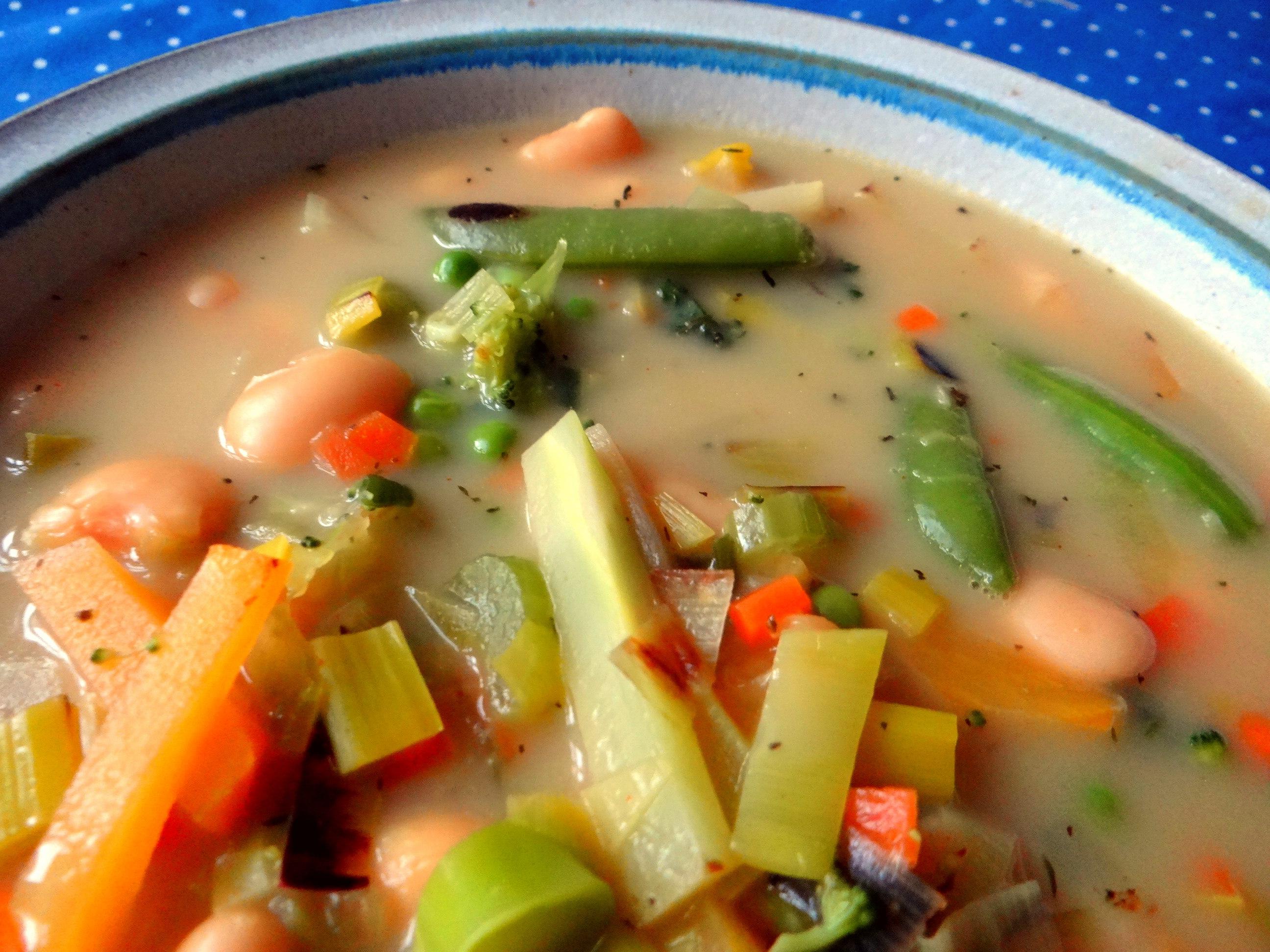 Gemüsesuppe mit weißen Bohnen (3)