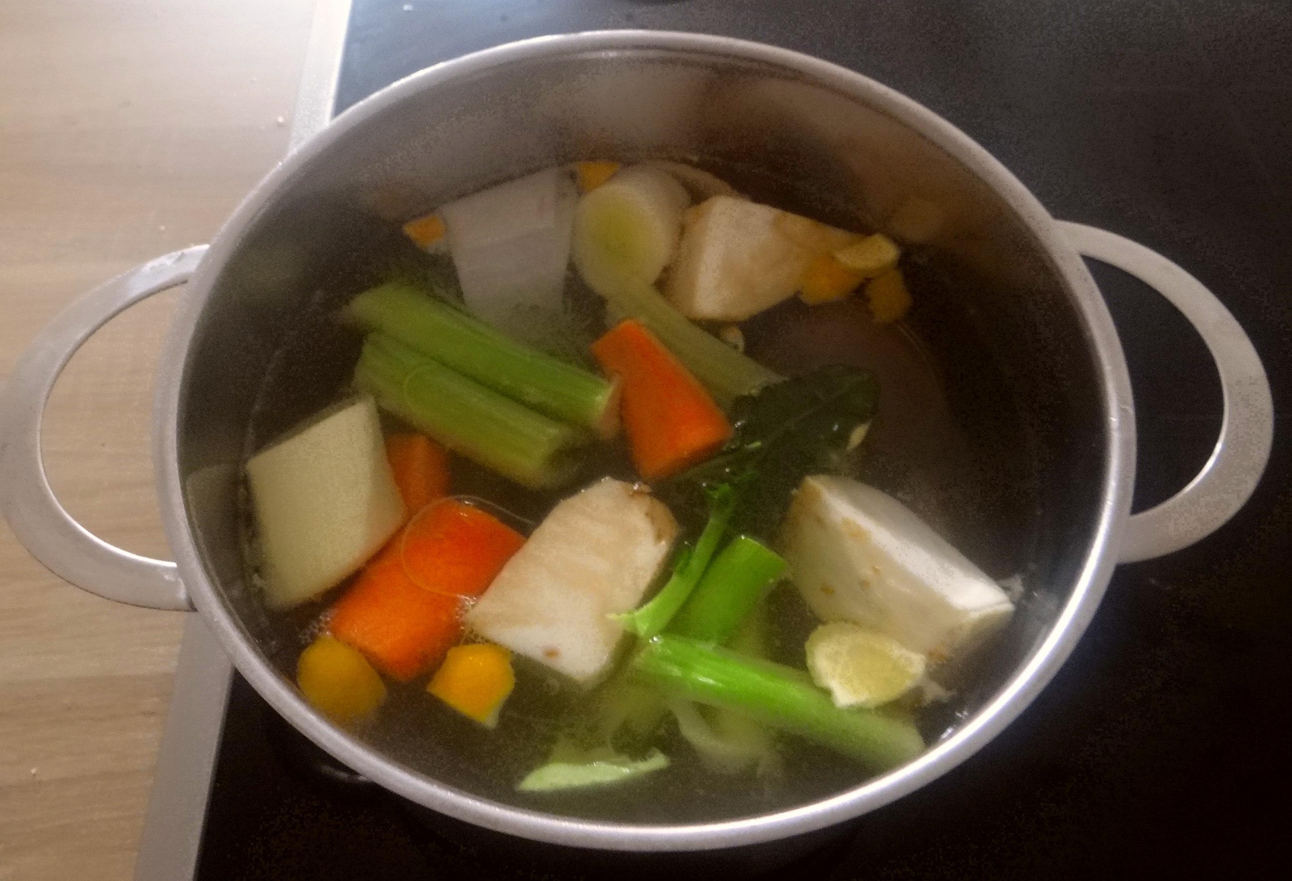 Gemüsesuppe mit weißen Bohnen (7)