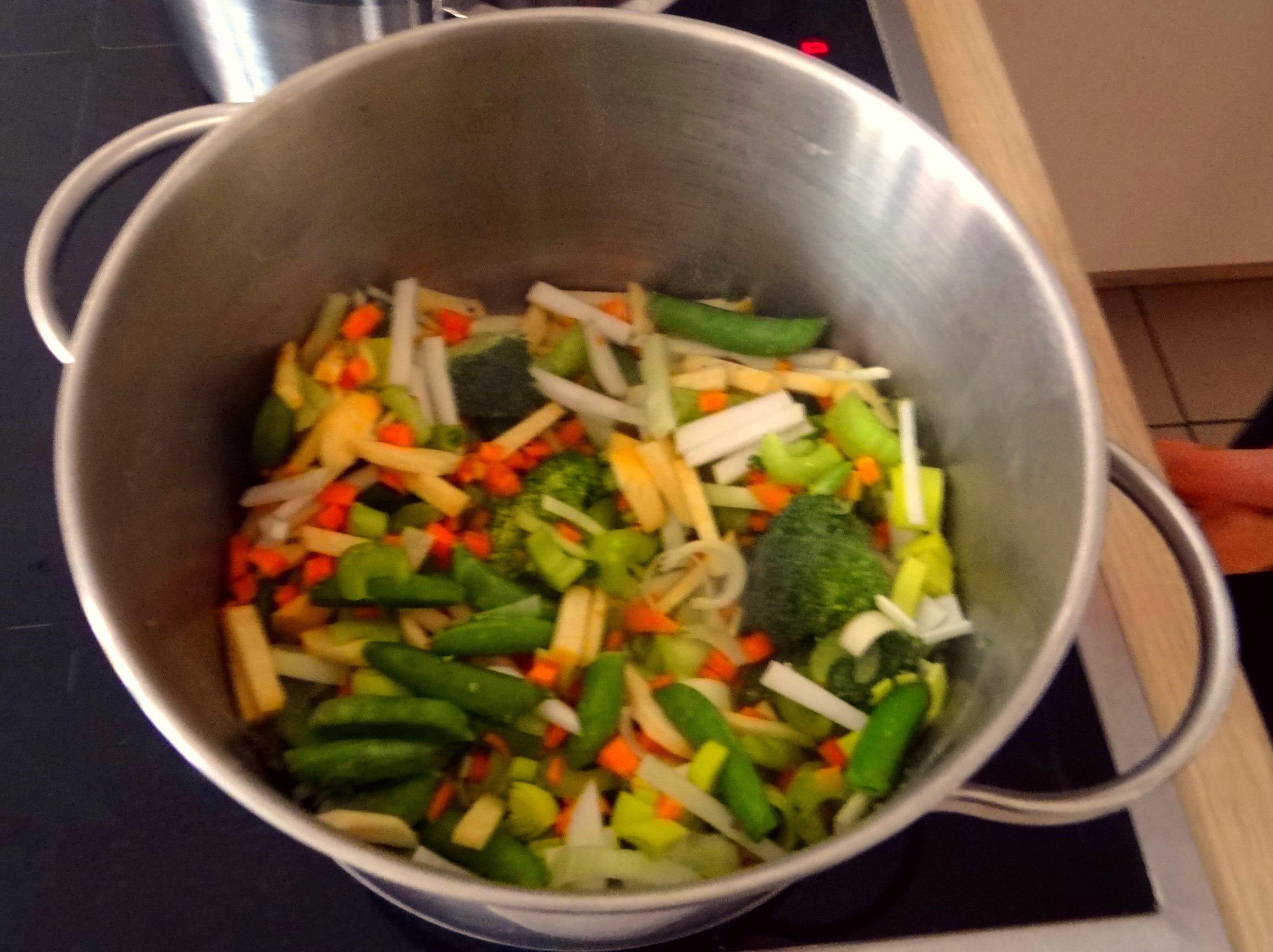 Gemüsesuppe mit weißen Bohnen (9)