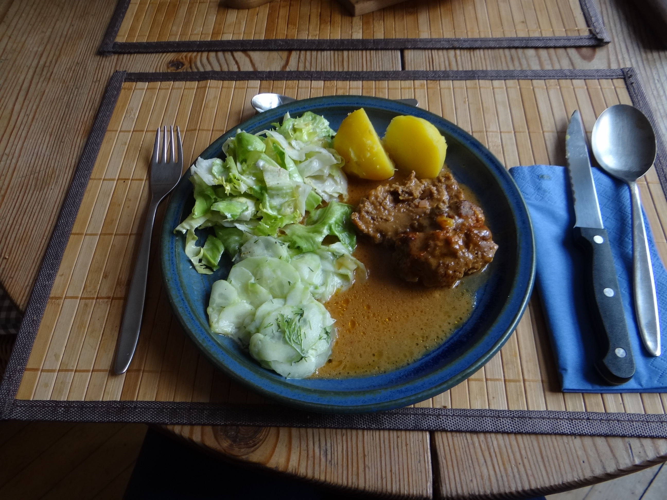 Hackbraten,Gurkensalat,Endiviensalat (12)