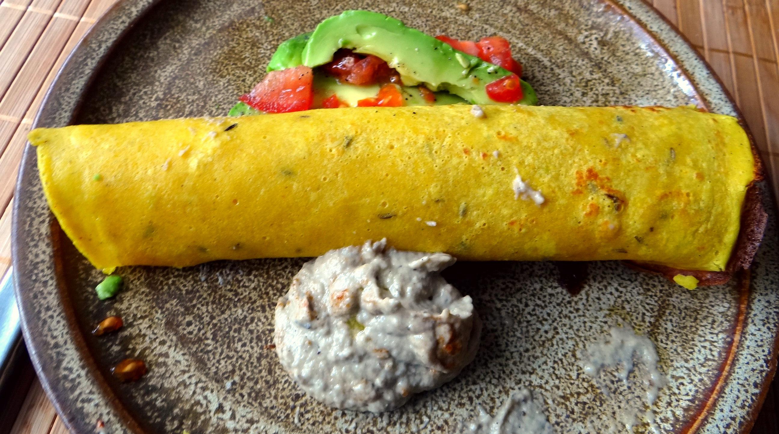 Kichererbsenmehl Pfannkuchen und Baba Ganoush (16)
