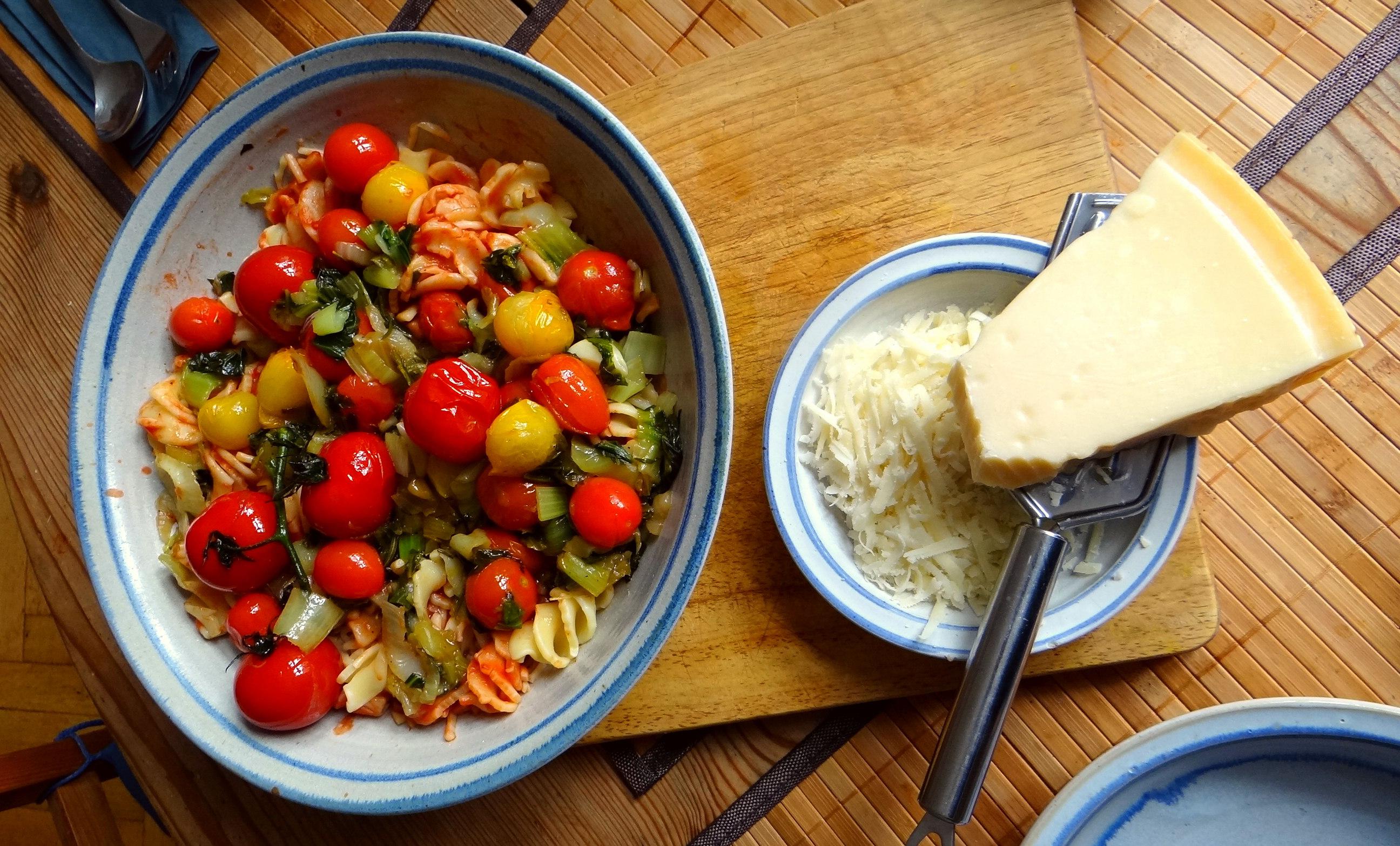 Pak Choy,Tomaten Spirelli (4)