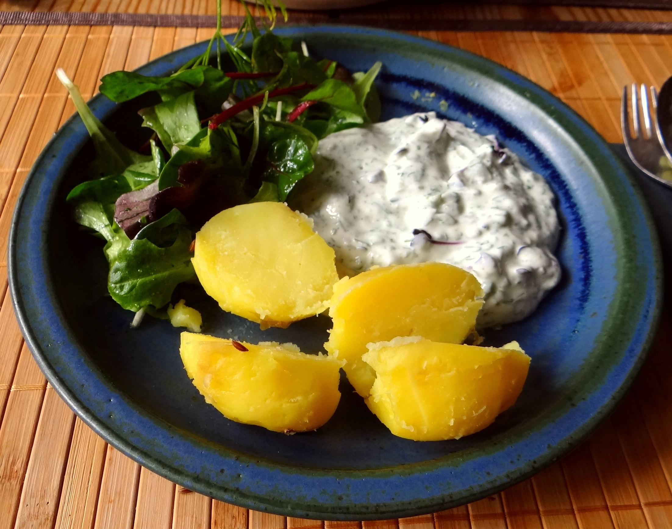 Quark,Kartoffeln,Salat (9)